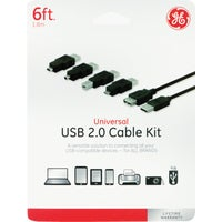 Jasco Products Co. 6' 6IN1 USB2.0 CABLE KIT 98152