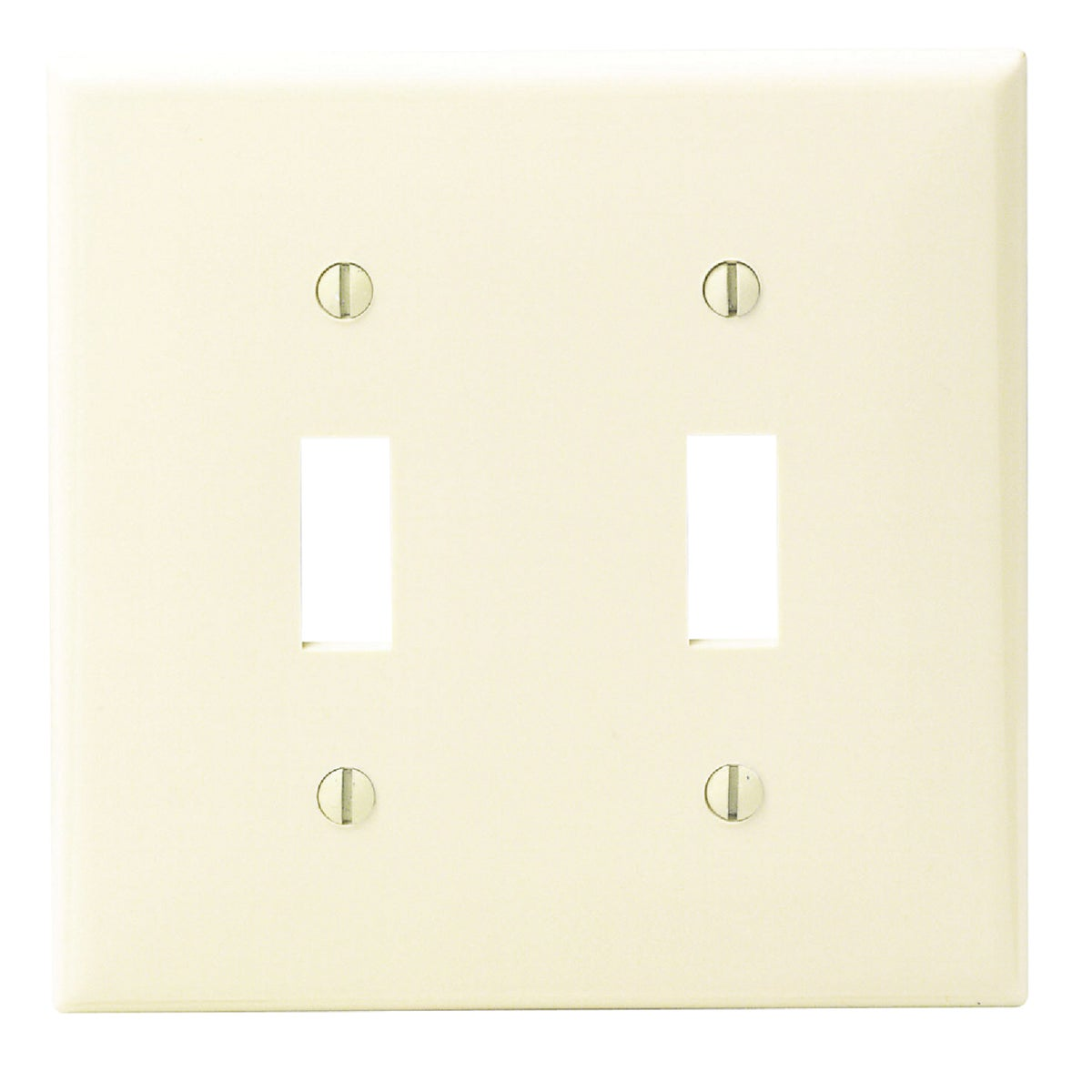 IV 2-TOGGLE WALL PLATE - 80709I by Leviton Mfg Co