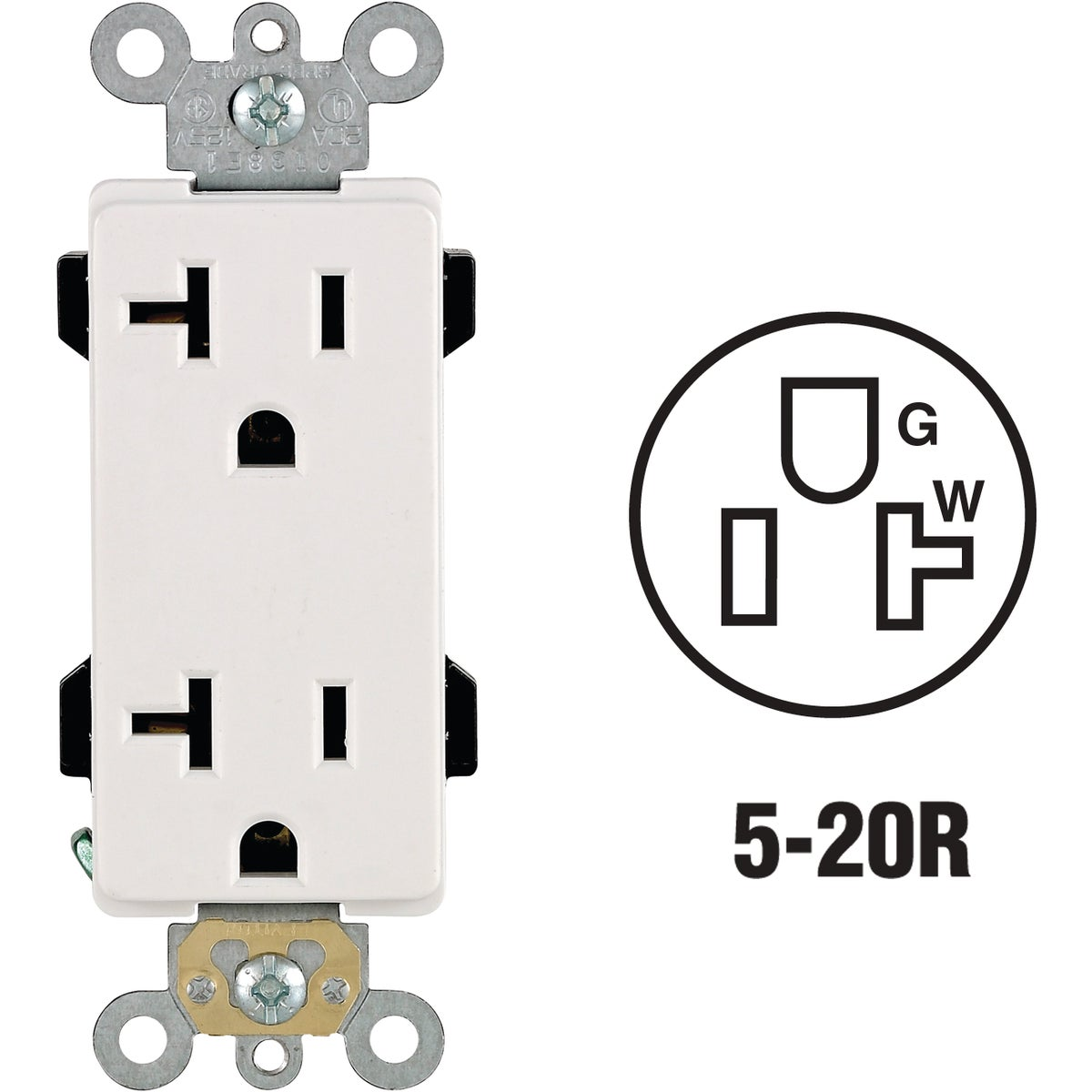 WHITE DUPLEX OUTLET - R62-16352-OWS by Leviton Mfg Co
