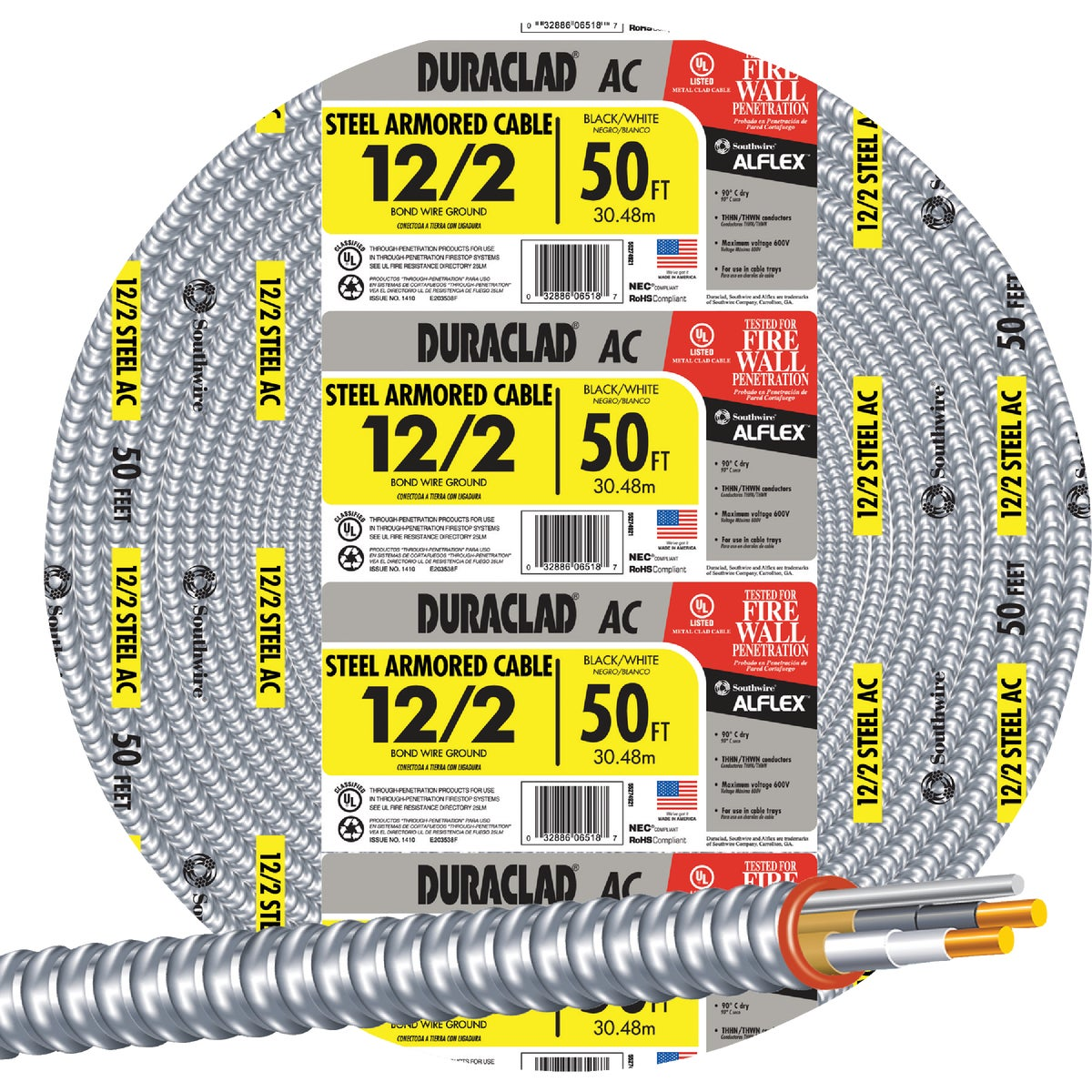 50' 12/2 STL ARMOR CABLE - 55274922 by Southwire Company