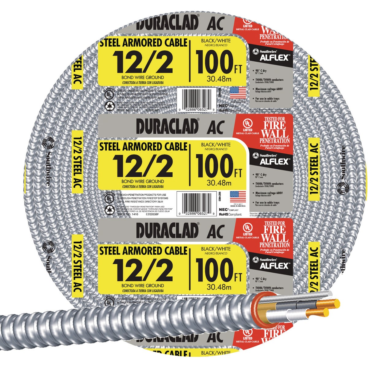 100' 12/2 Stl Armr Cable