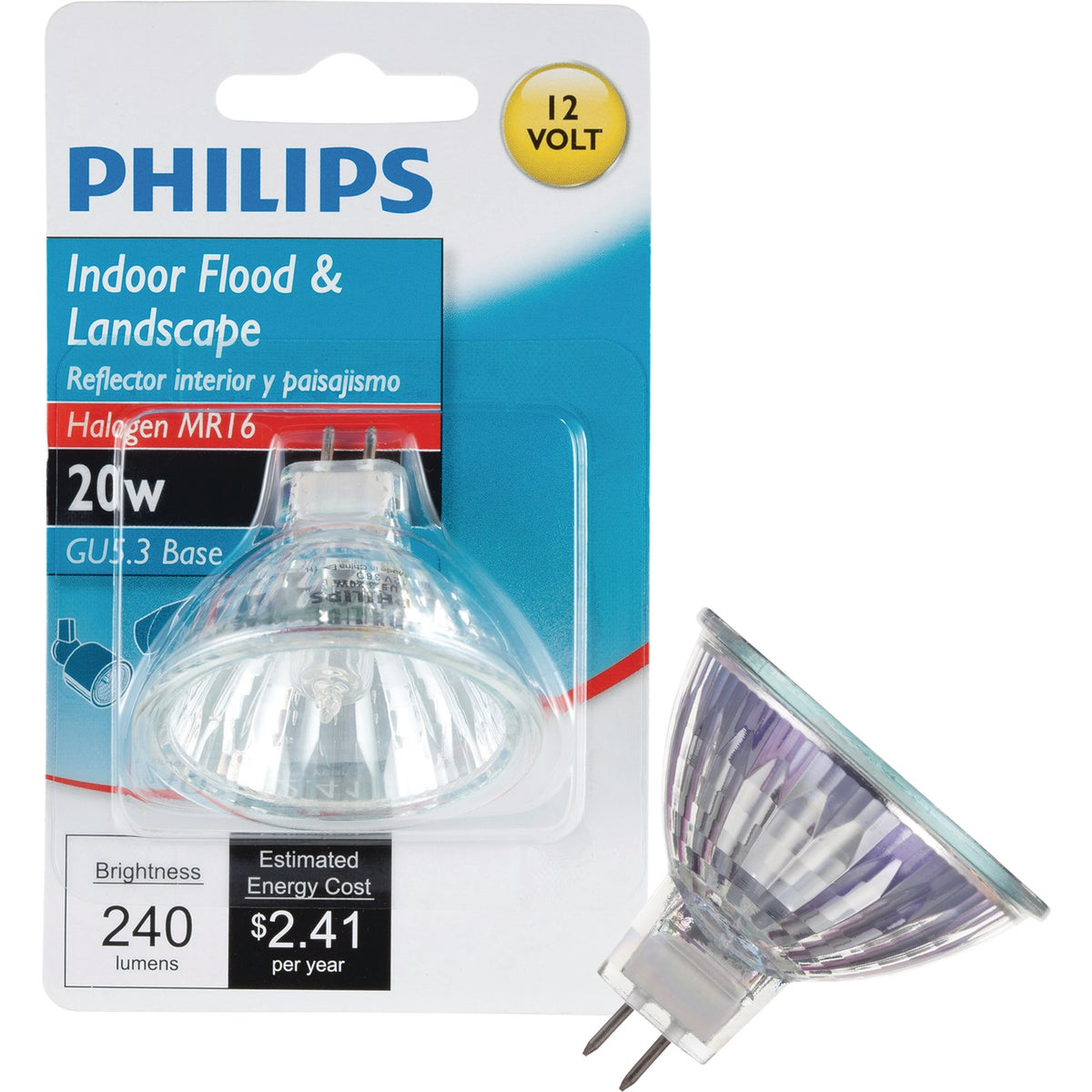 20W MR16 FLOOD HAL BULB