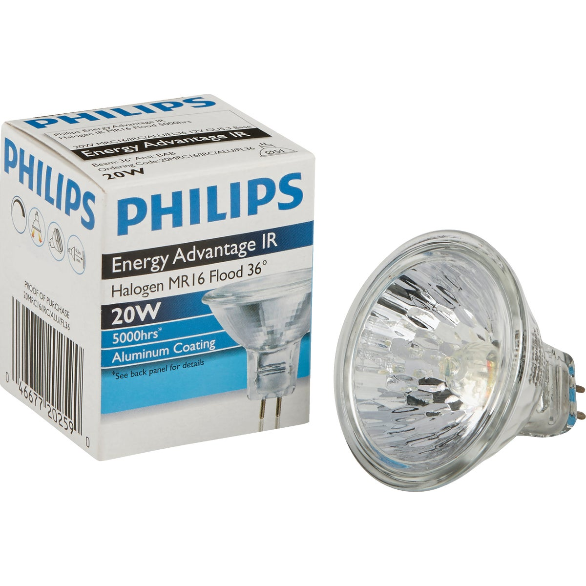 20W MR16 SPOT BULB - 21456 FAM6/Q20MR16/NSP/C by G E Lighting