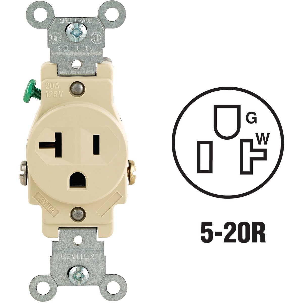 IV SINGLE OUTLET - S01-5801-KIS by Leviton Mfg Co