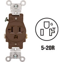 Leviton BRN SINGLE OUTLET 100-5801-SP
