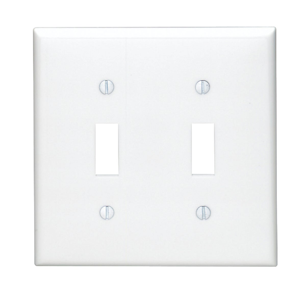 WHT 2-TOGGLE WALL PLATE - 80709W by Leviton Mfg Co