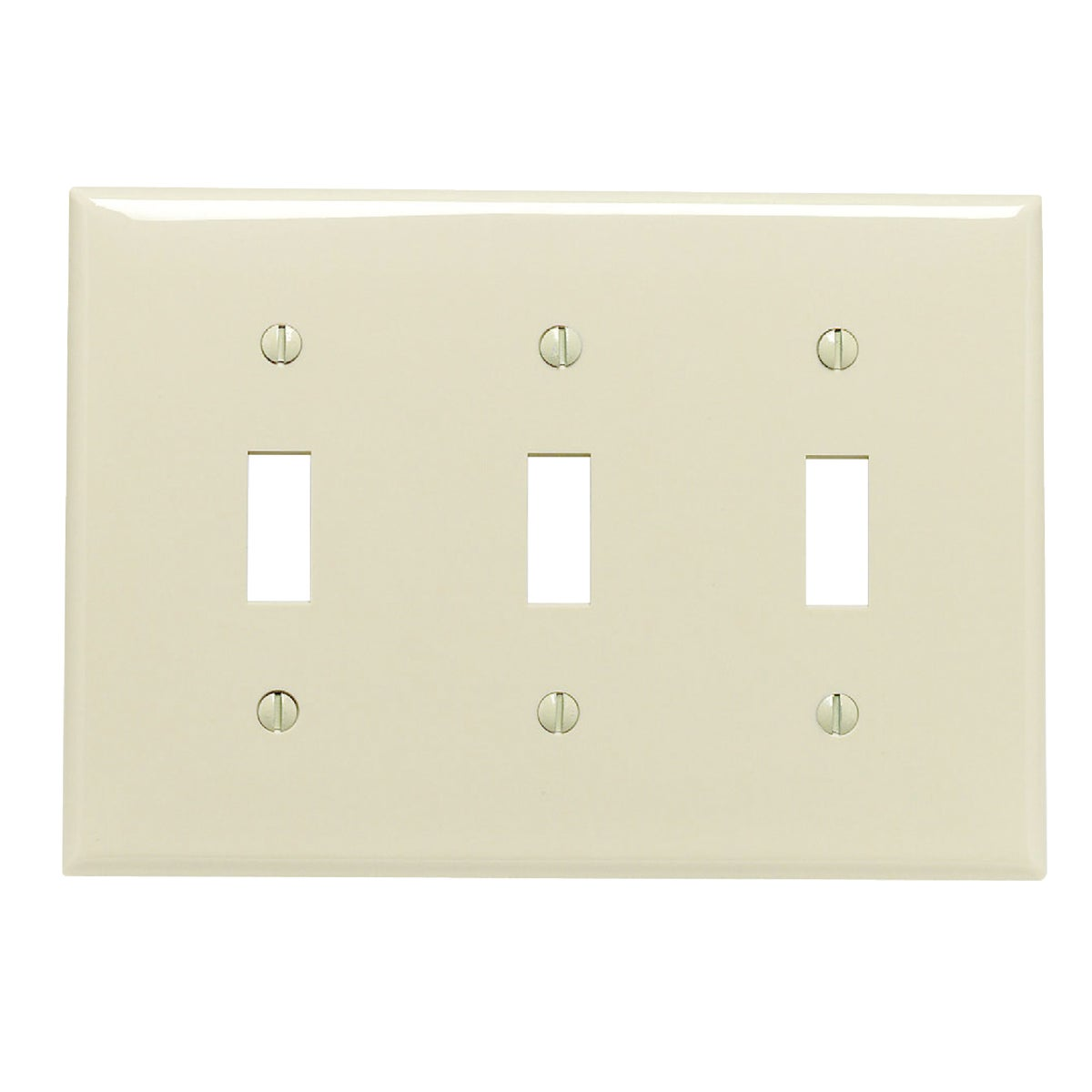 IV 3-TOGGLE WALL PLATE - 80711I by Leviton Mfg Co