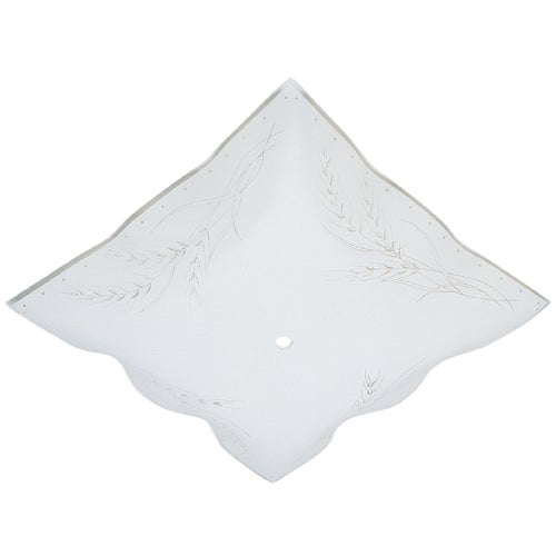 WESTINGHOUSE LIGHTING 81800 Ruffled SQ Diffuser, 12-Inch
