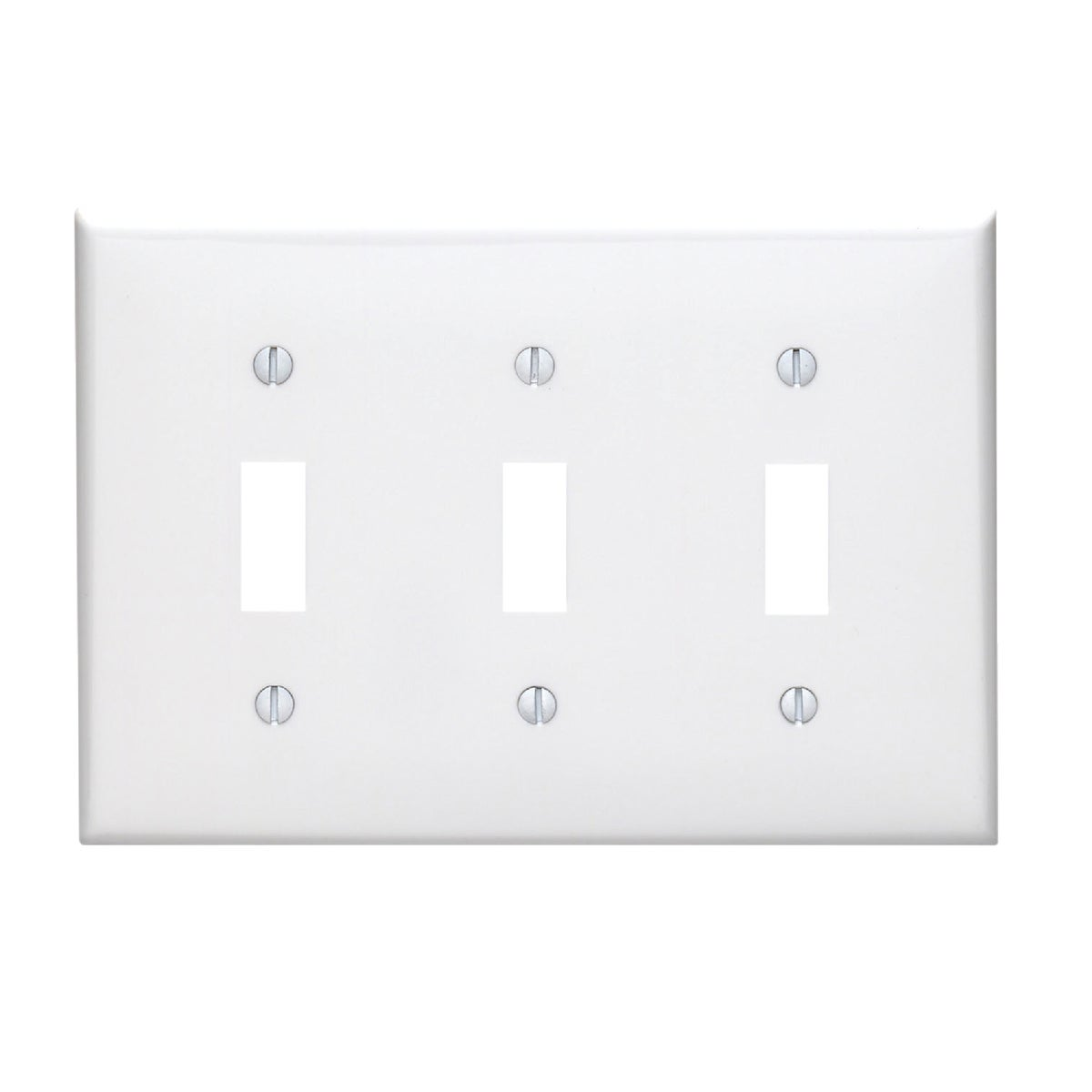 WHT 3-TOGGLE WALL PLATE - 80711W by Leviton Mfg Co