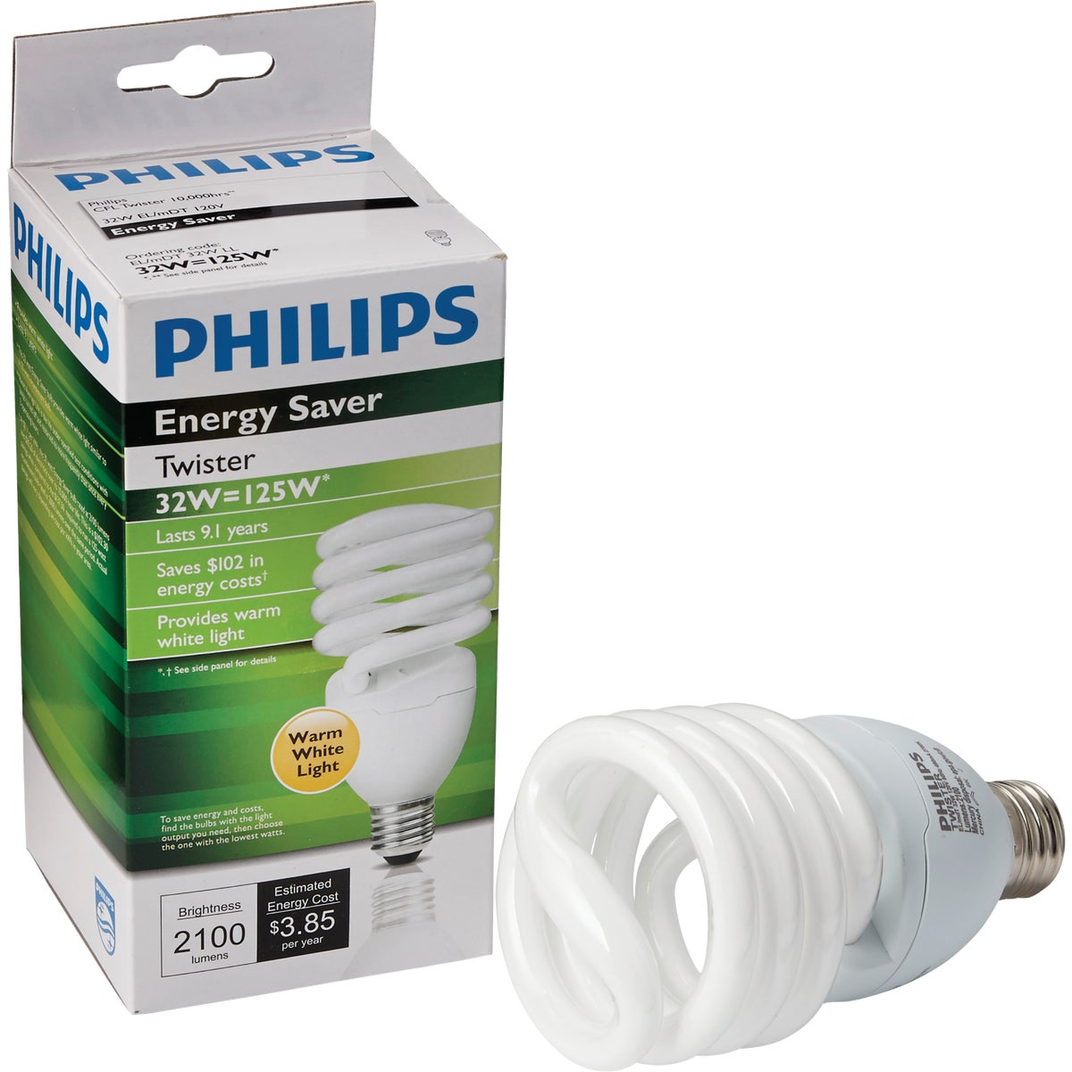 32W SPIRAL CFL BULB - 24684 by G E Lighting