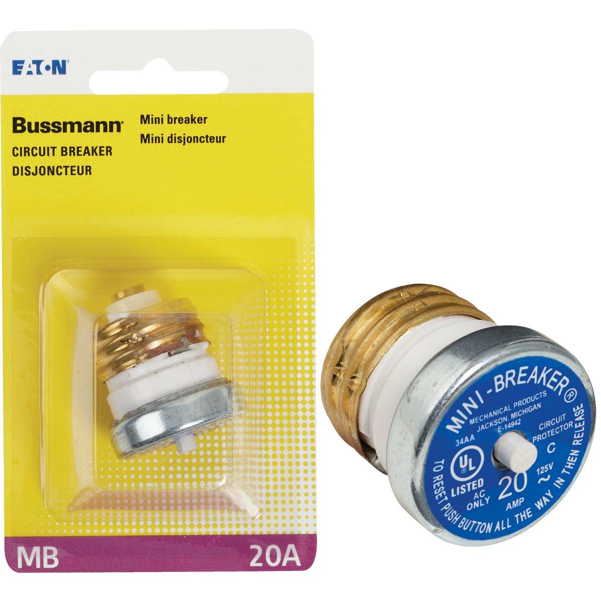 20A MINI BREAKER - BP/MB-20 by Bussmann Cooper