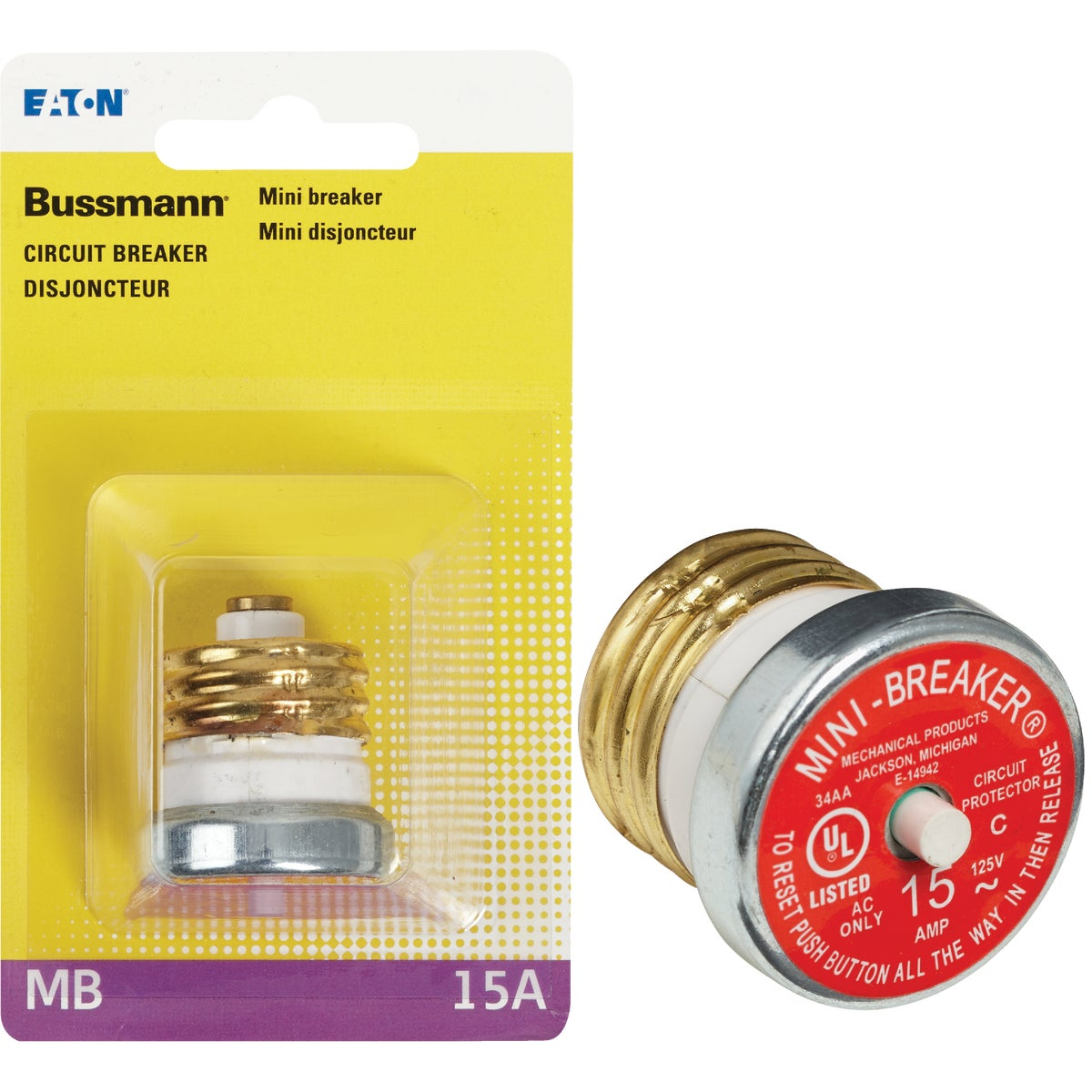 15A MINI BREAKER - BP/MB-15 by Bussmann Cooper