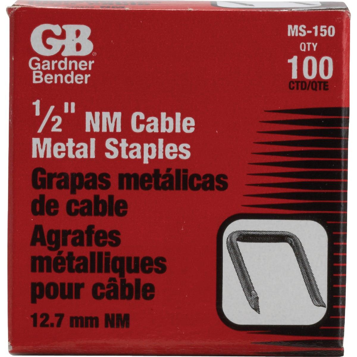 "100PK 1/2"" METAL STAPLE - MS-150 by G B Electrical Inc"