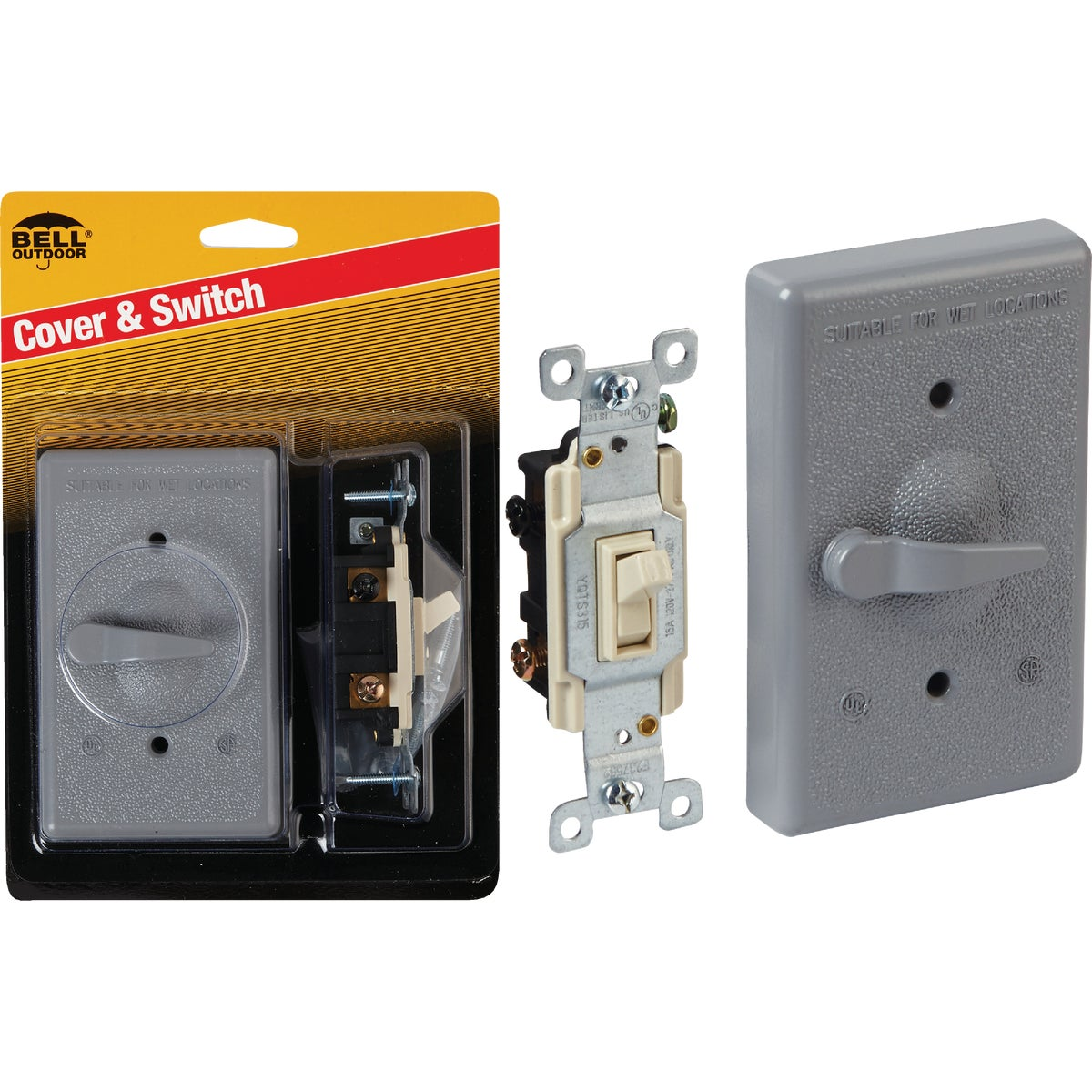 Bell Weatherproof Outdoor Switch Cover, 5141-5