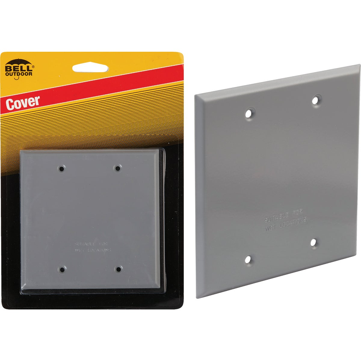 Bell 2-Gang Blank Weatherproof Outdoor Box Cover