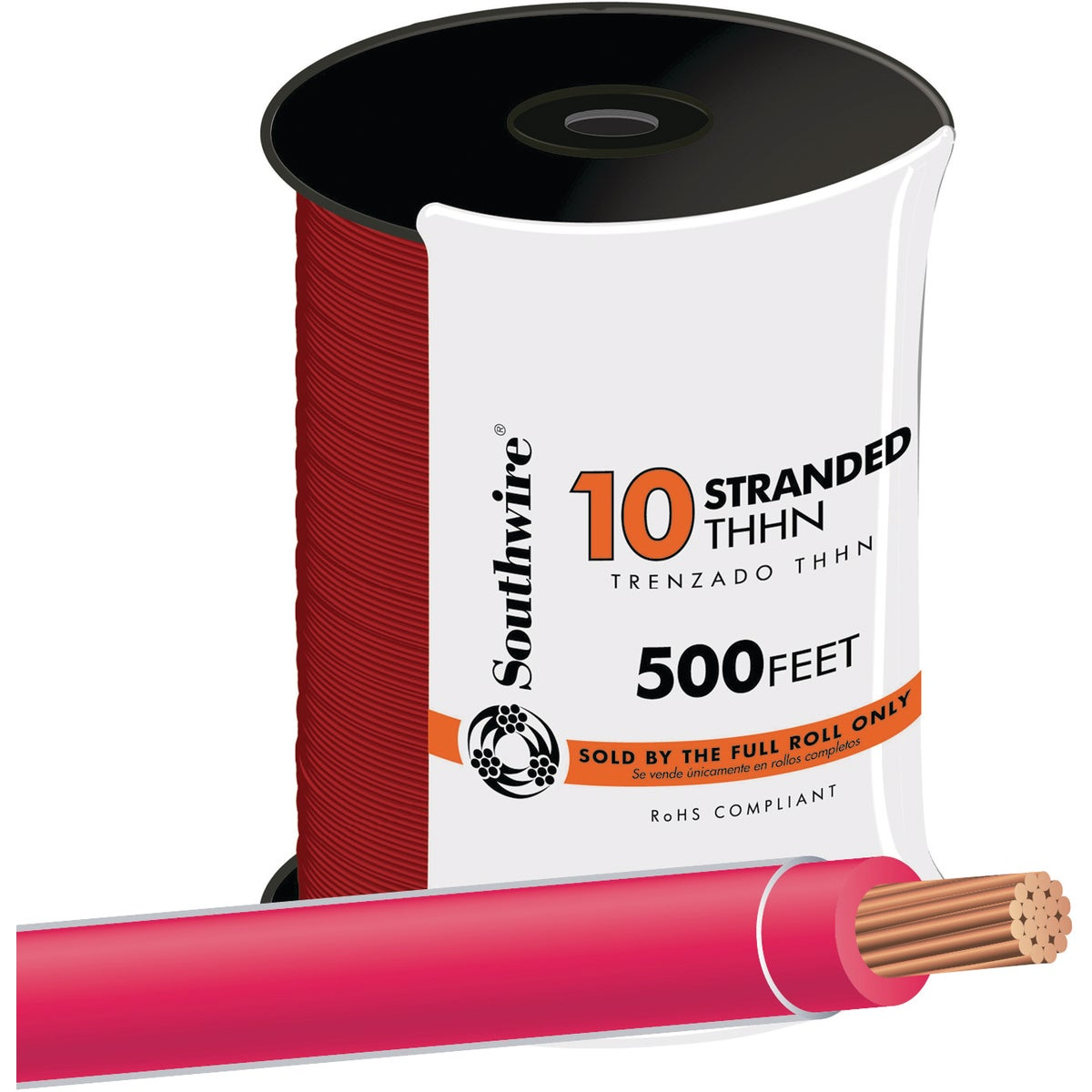 500' 10STR RED THHN WIRE