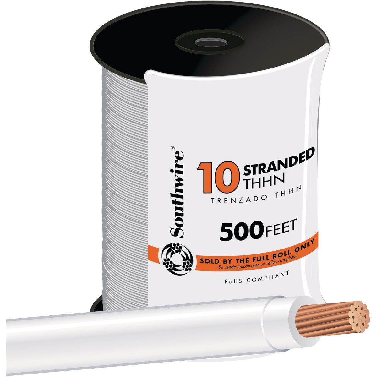 500' 10STR WHT THHN WIRE - 22974057 by Southwire Company