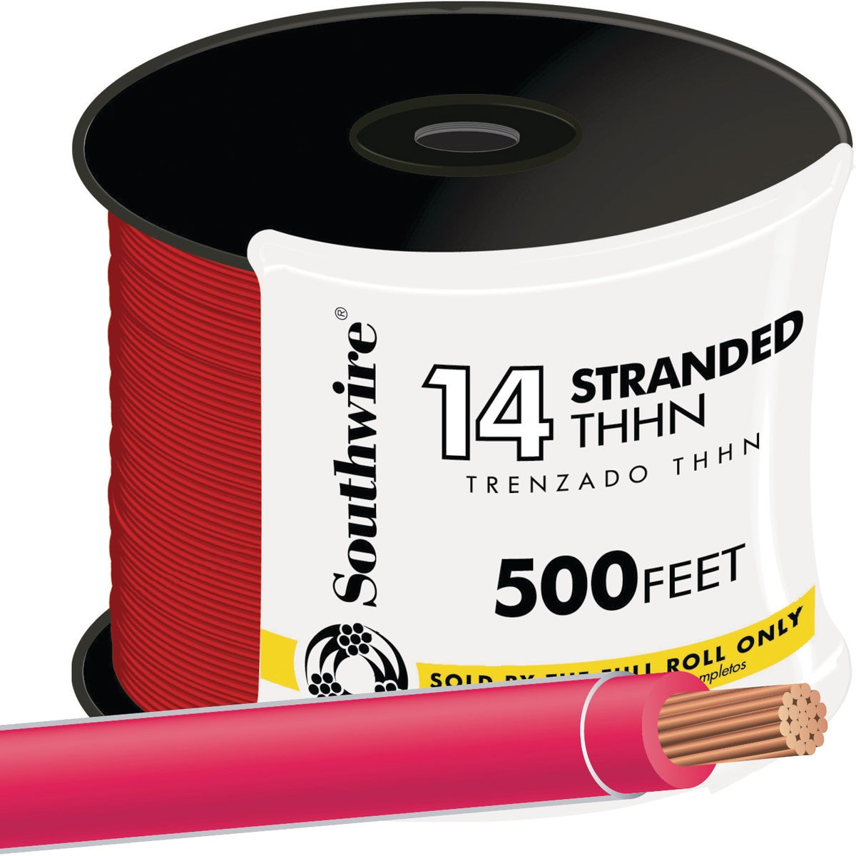 500' 14STR RED THHN WIRE - 22957558 by Southwire Company
