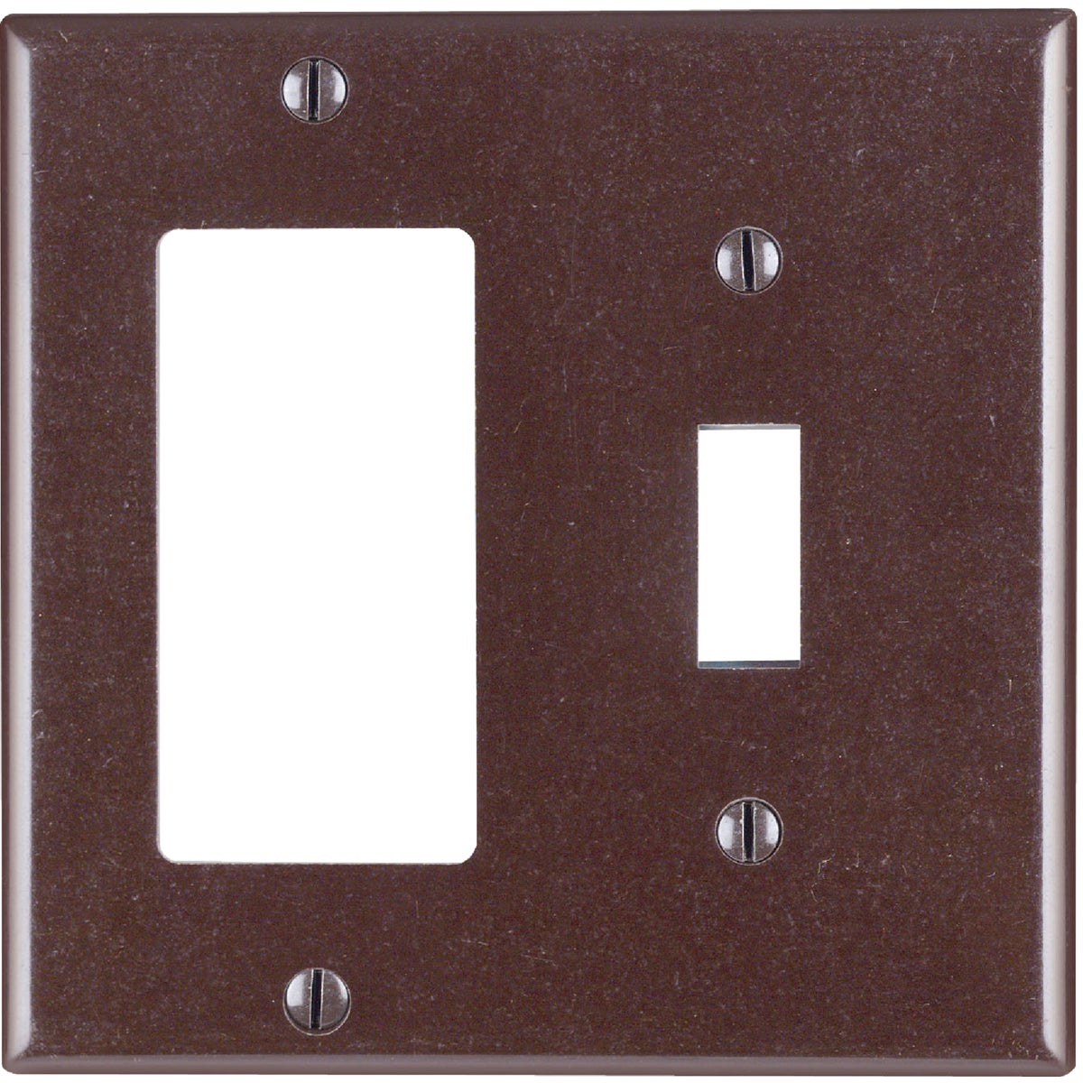BRN GFI/TOGL WALL PLATE - 80405 by Leviton Mfg Co