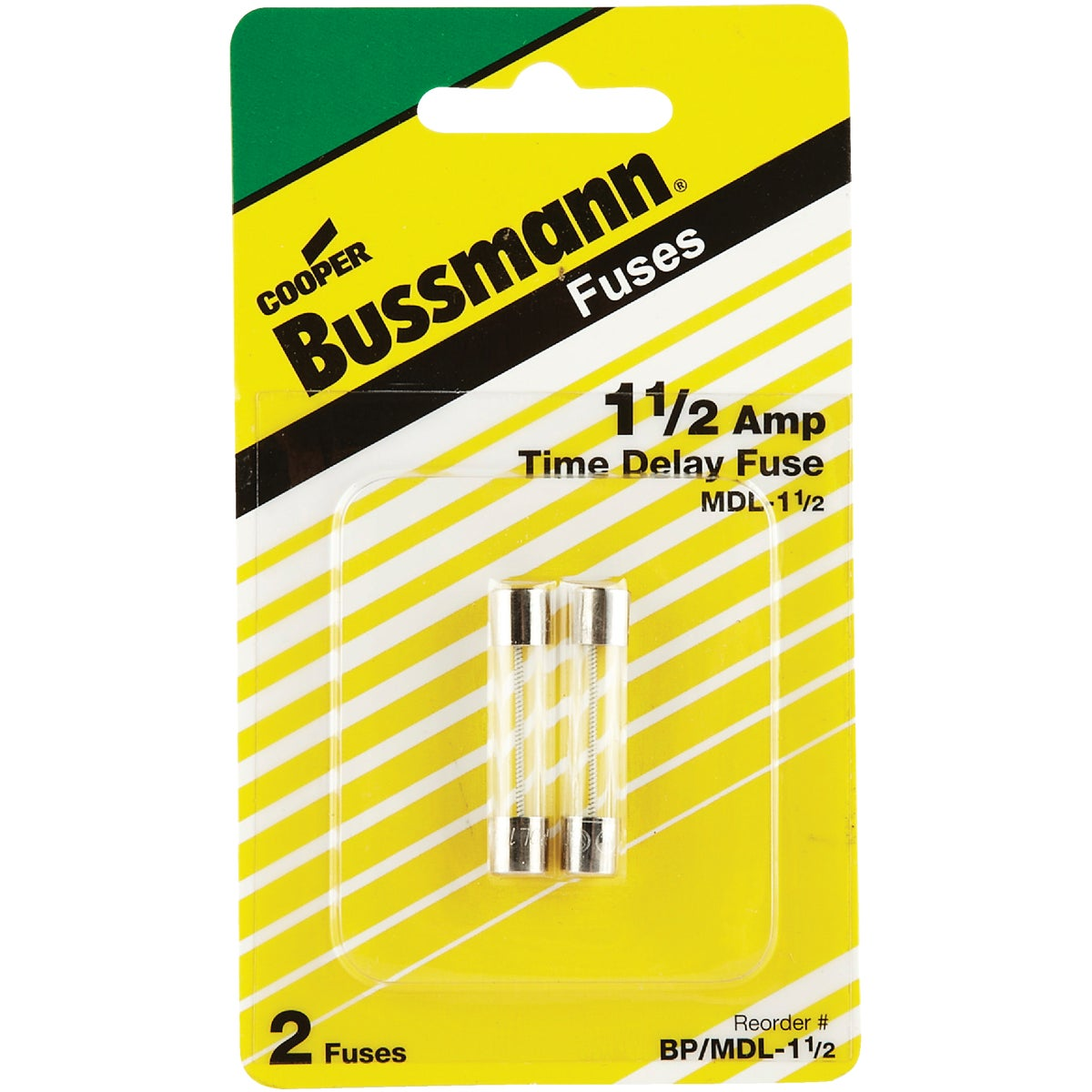 1-1/2A ELECTRONIC FUSE - BP/MDL-1-1/2 by Bussmann Cooper