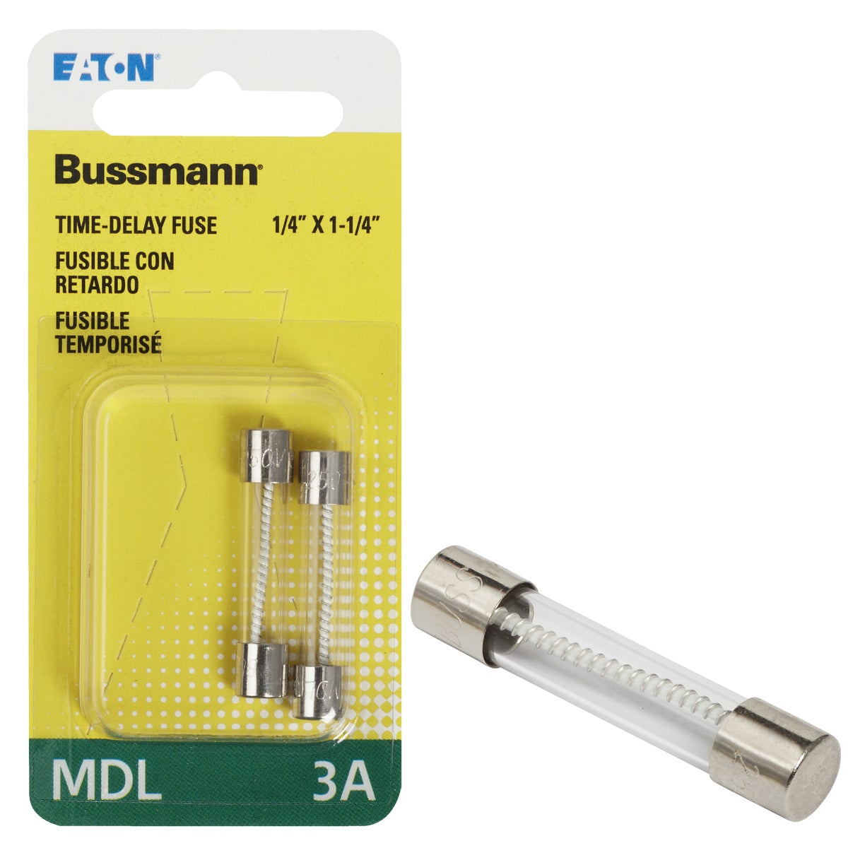 3A ELECTRONIC FUSE - BP/MDL-3 by Bussmann Cooper