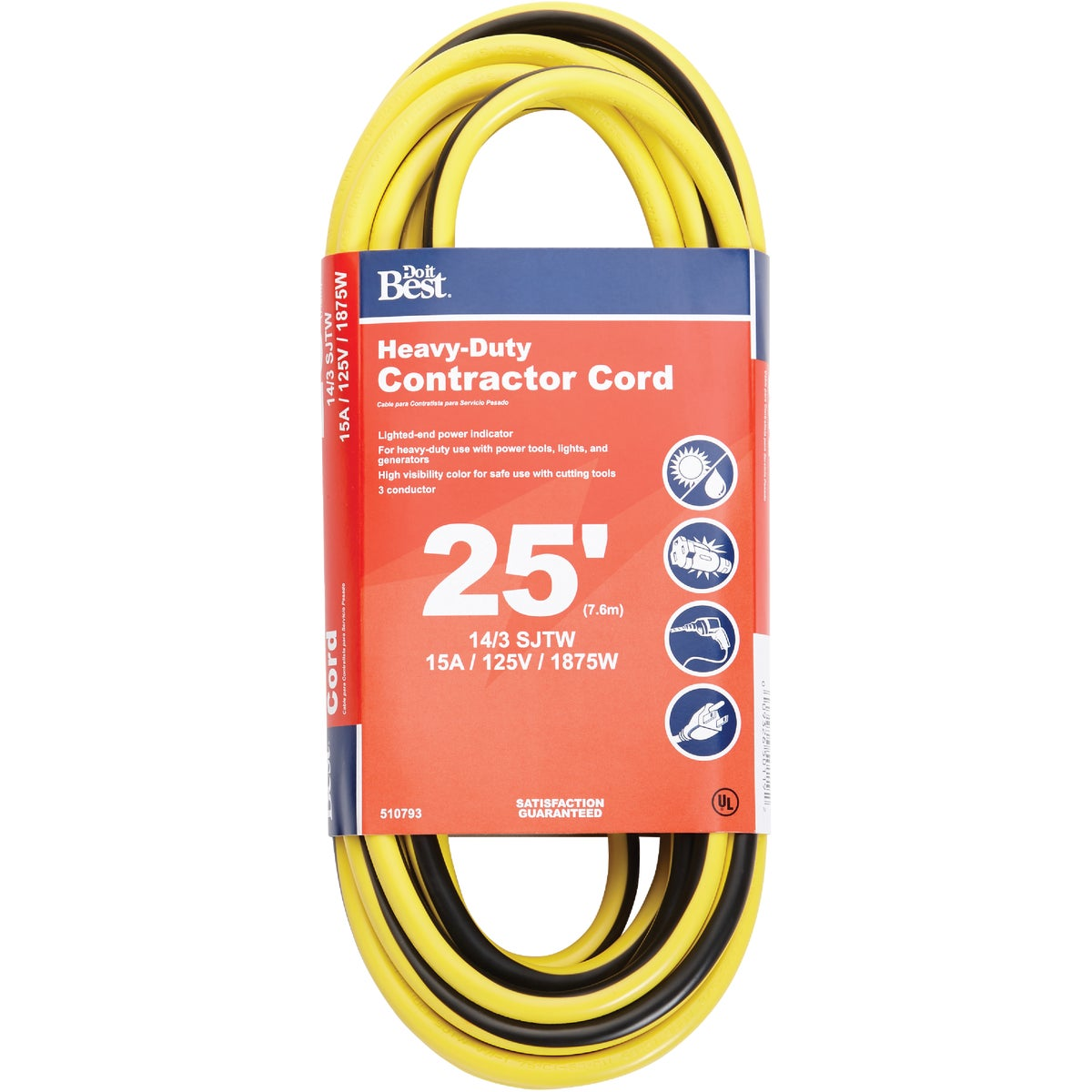 25' 14/3 LIGHTED CORD - 553057 by Coleman Cable Hwg