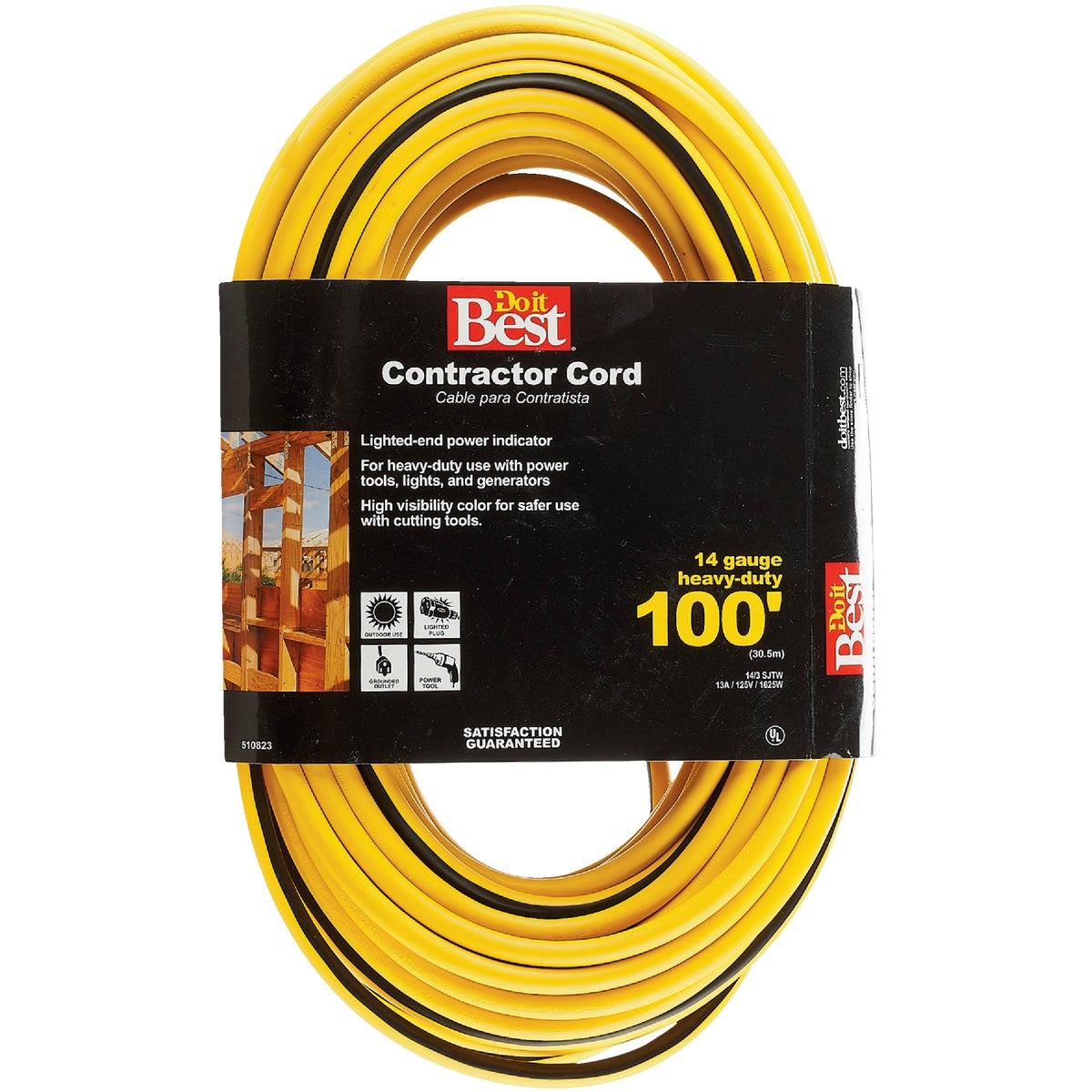 100' 14/3 LIGHTED CORD