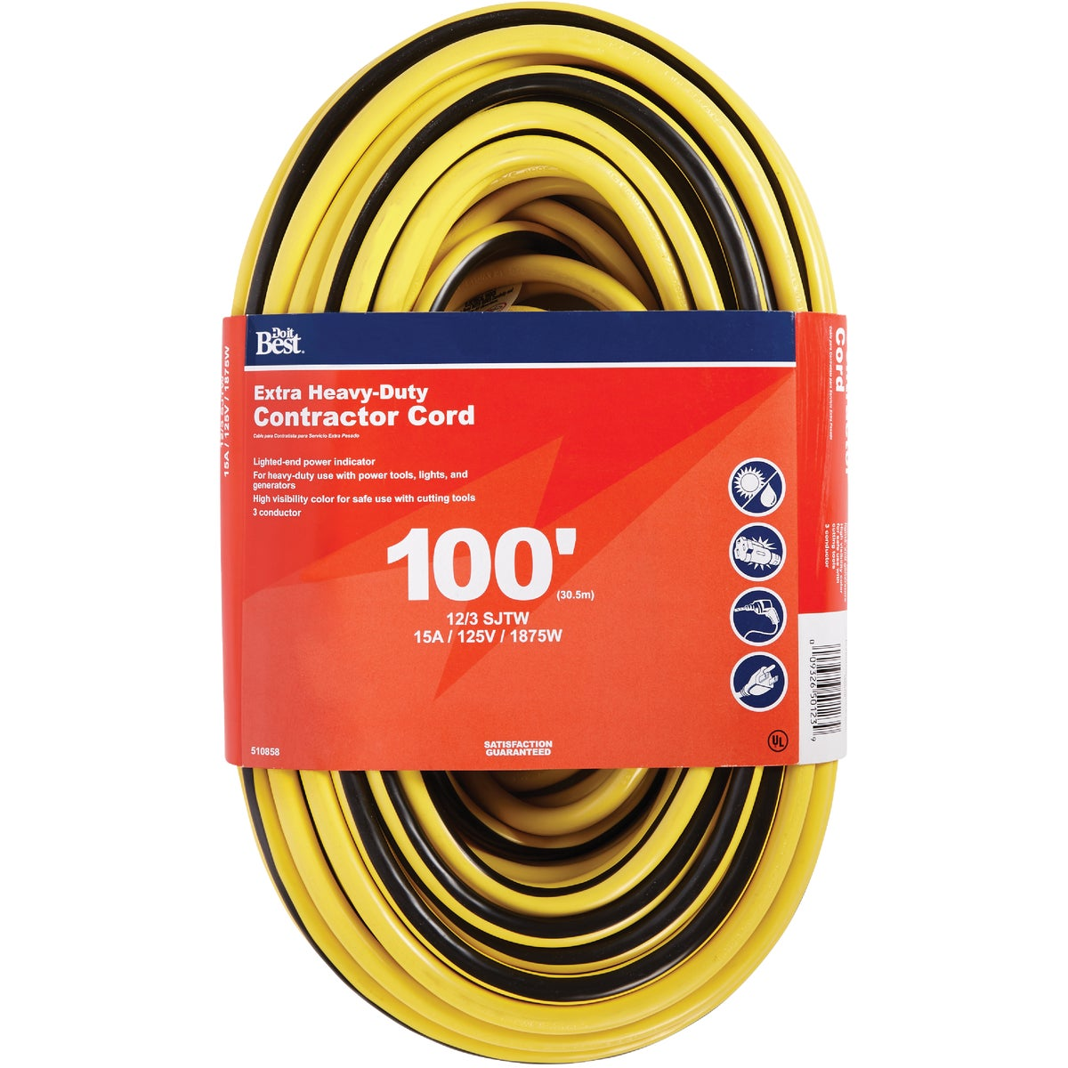 100' 12/3 LIGHTED CORD - 553056 by Coleman Cable Hwg