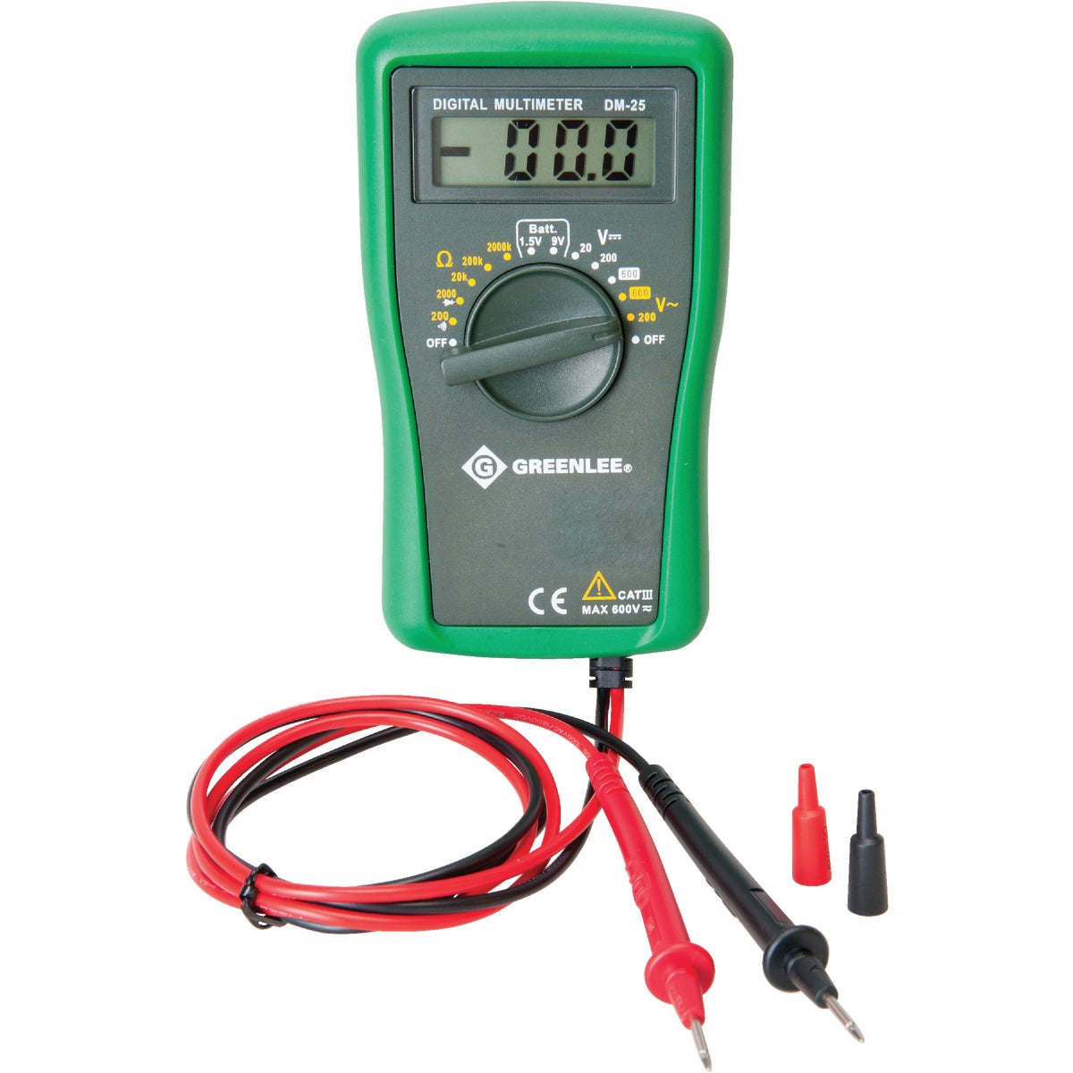 DIGITAL VOLT MULTI METER - DM-25 by Greenlee Textron