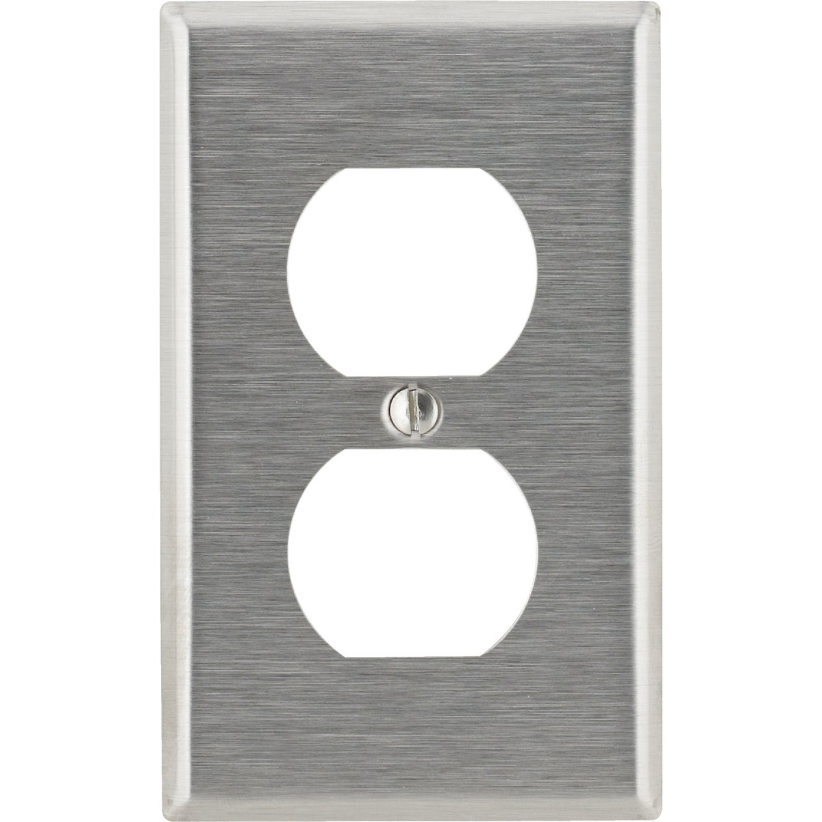 SS DUP OUTLET WALLPLATE - 84003 by Leviton Mfg Co