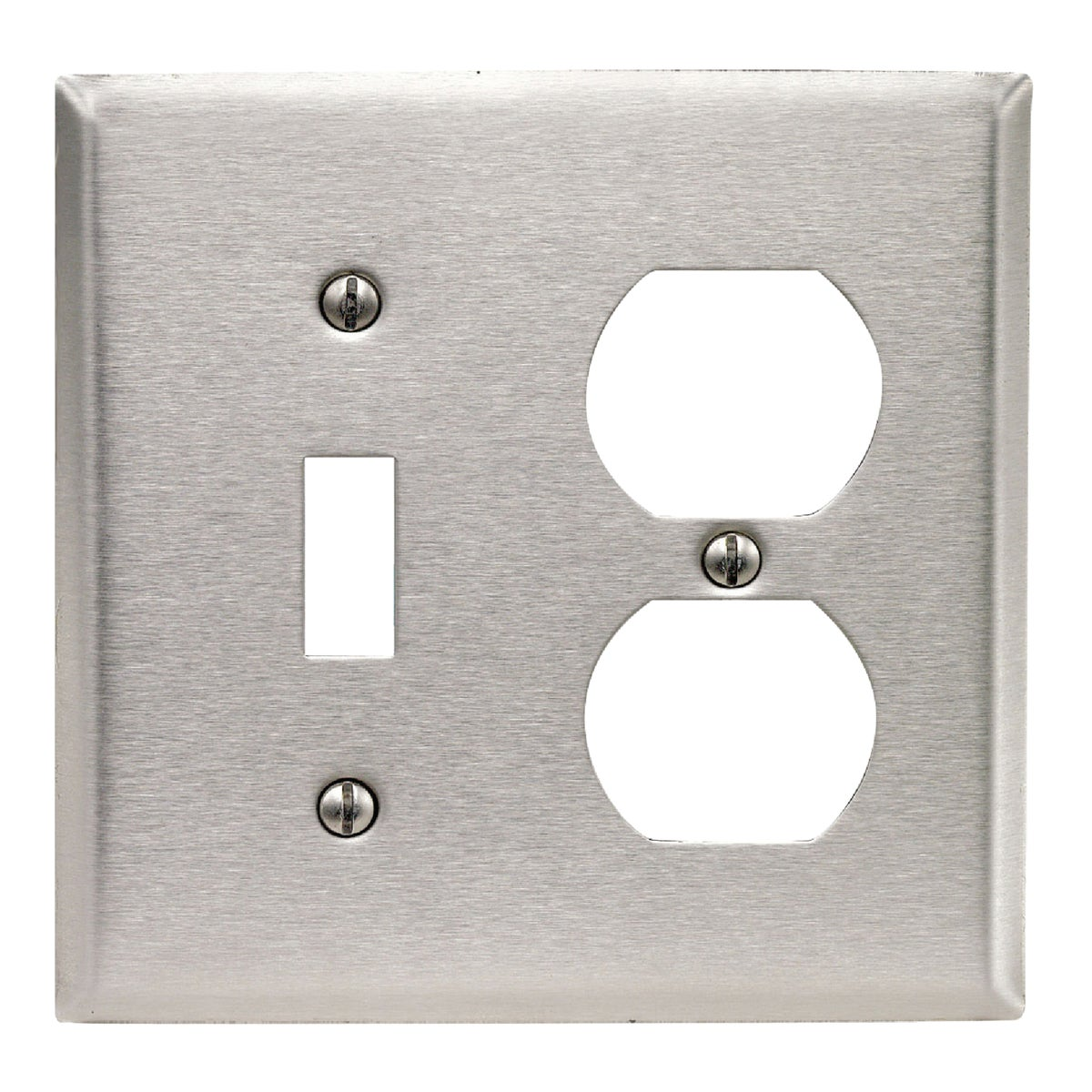 SS COMBO WALL PLATE - 84005 by Leviton Mfg Co