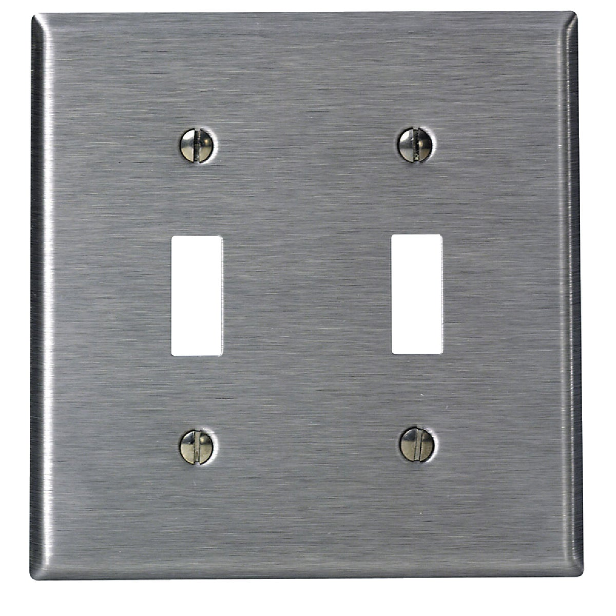 SS 2-TOGGLE WALL PLATE