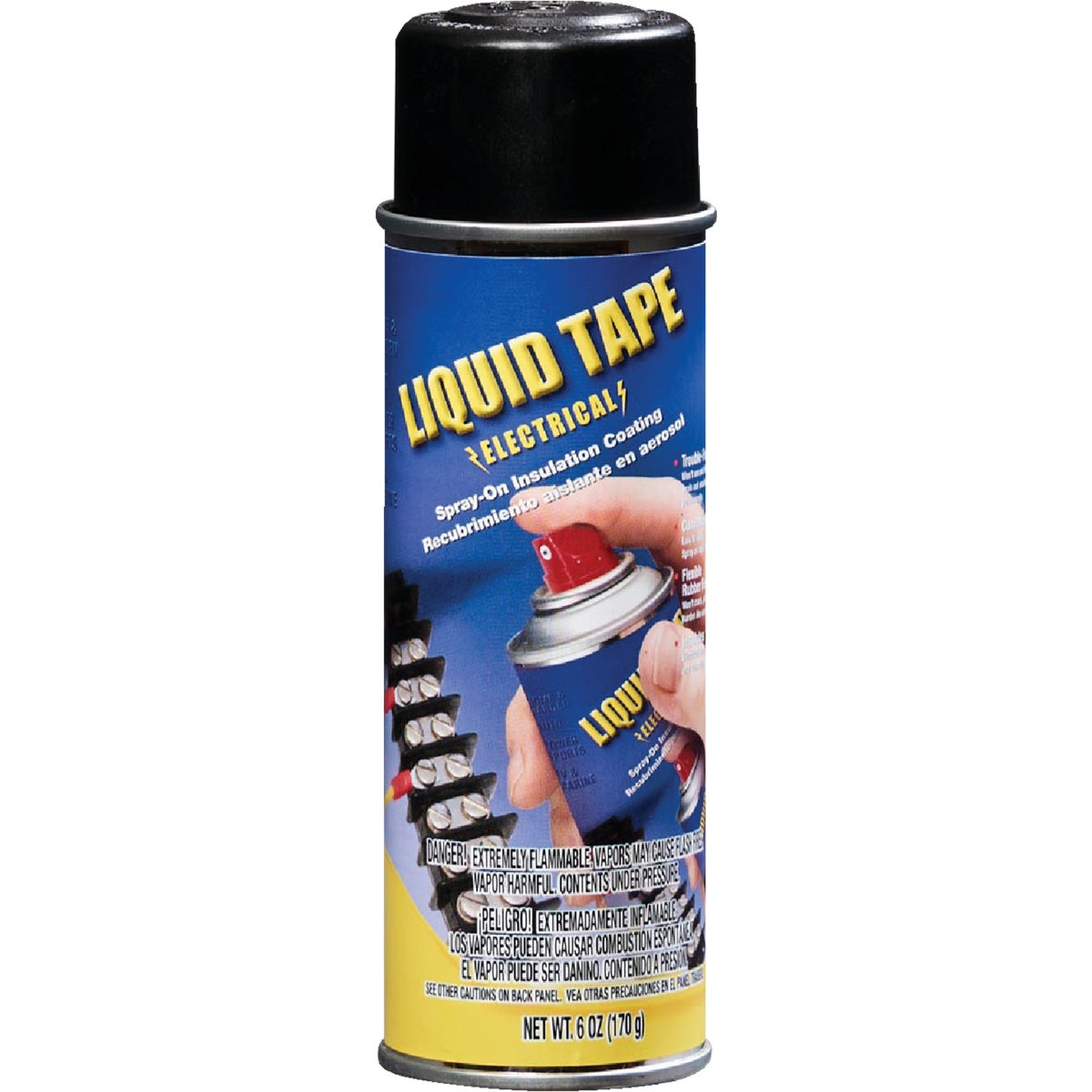 BLK ELEC SPRAY-ON TAPE - 16003-6 by Plastic Dip Intnl