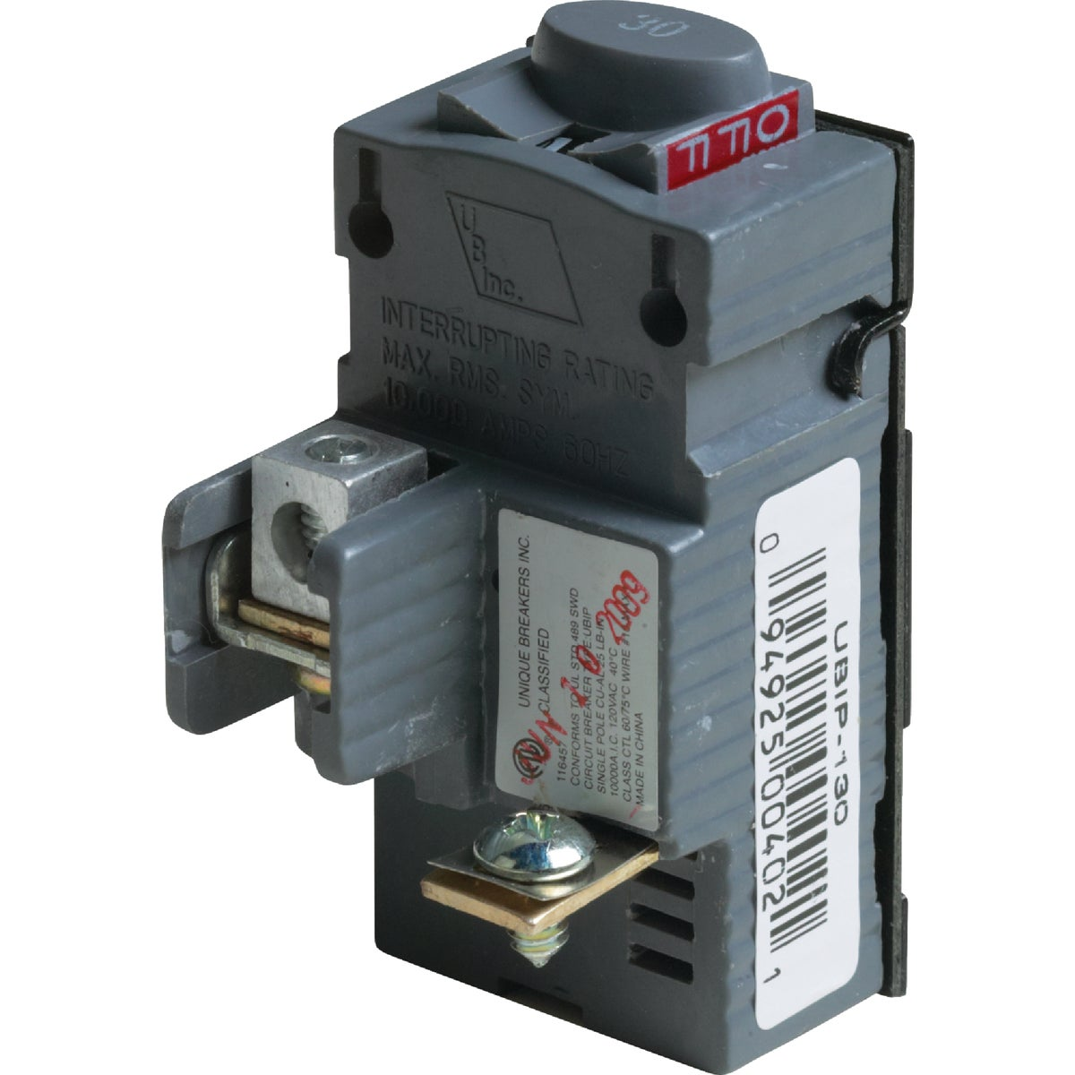 30A SP CIRCUIT BREAKER - UBIP130 by Connecticut Electric