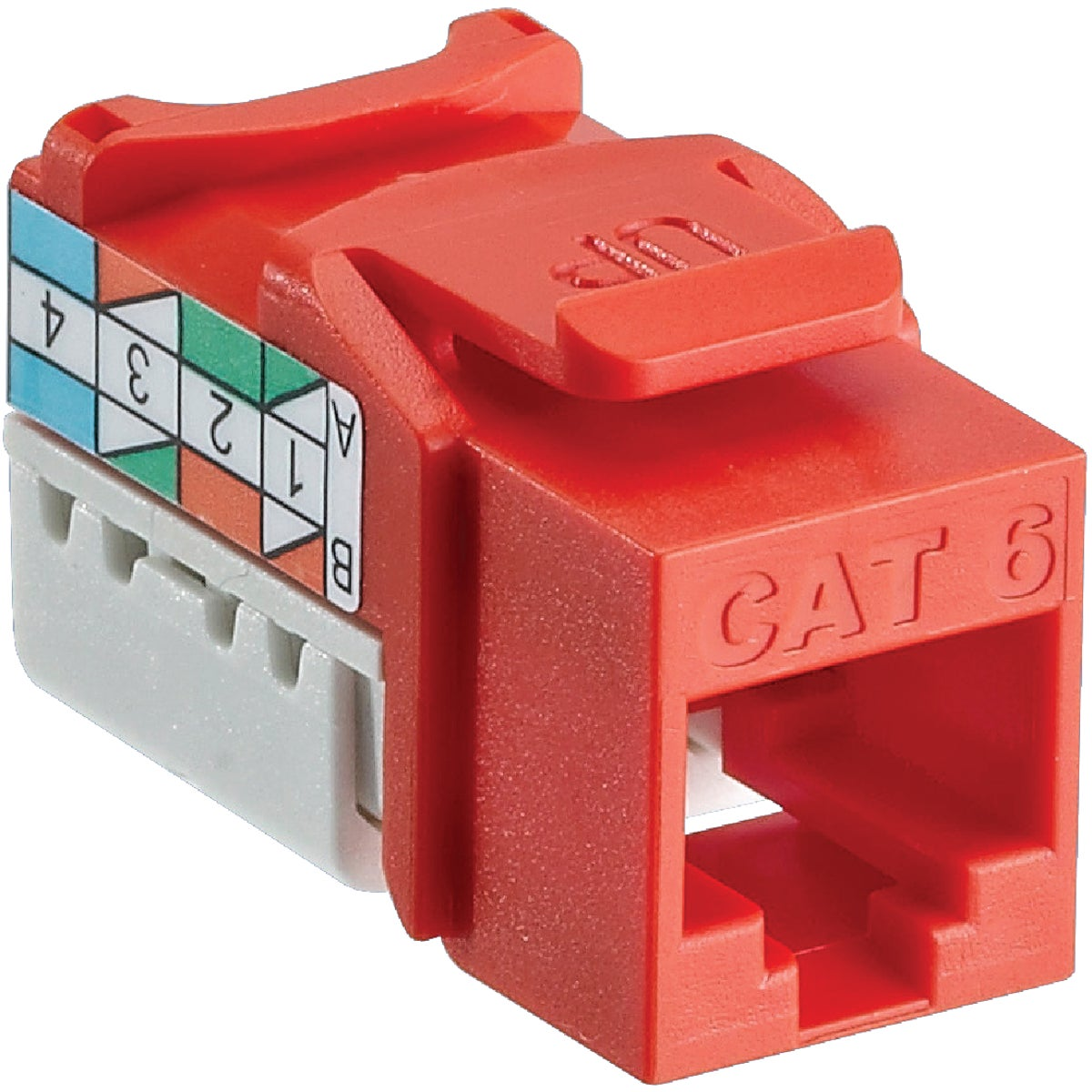 ORANGE 8-WIRE CAT6 JACK - R03-6G108-01O by Leviton Mfg Co