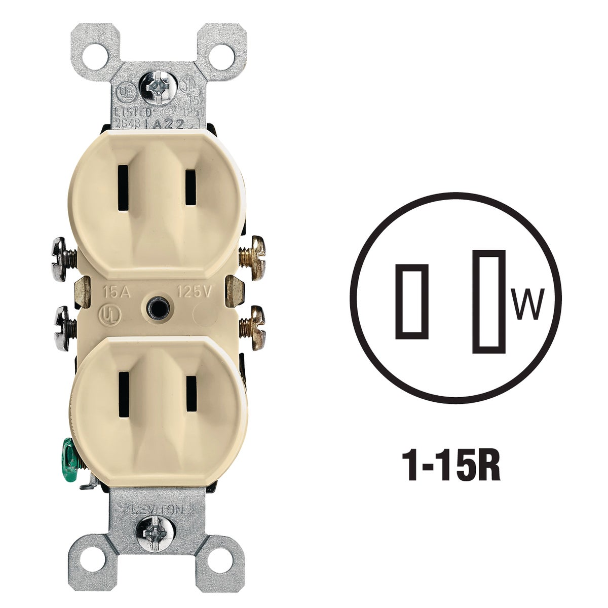 IV DUPLEX OUTLET - 223ICP by Leviton Mfg Co