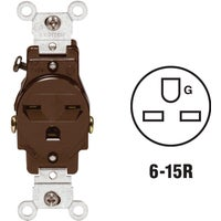 Leviton BRN SINGLE OUTLET 5029