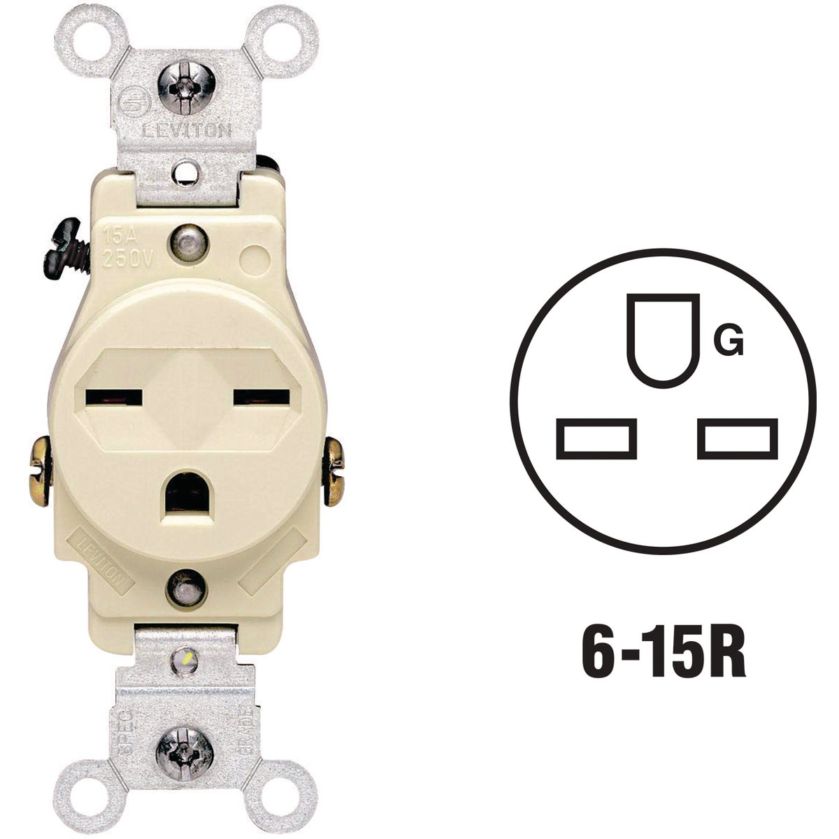 IV SINGLE OUTLET - 5029I by Leviton Mfg Co