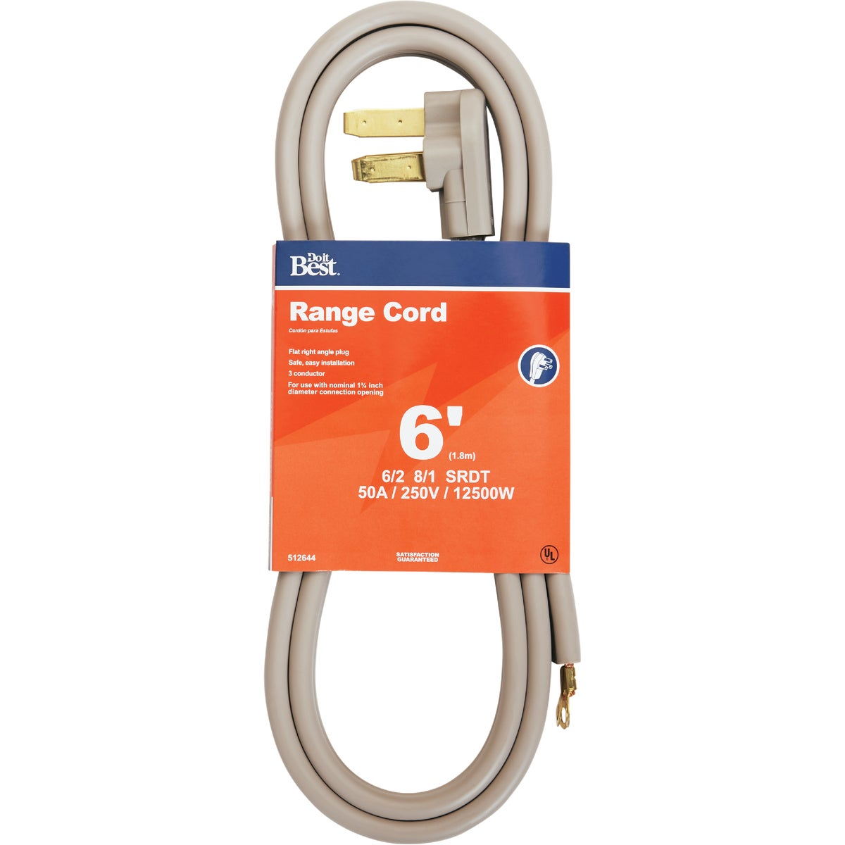 6' 50A RANGE CORD - 550986 by Coleman Cable Hwg