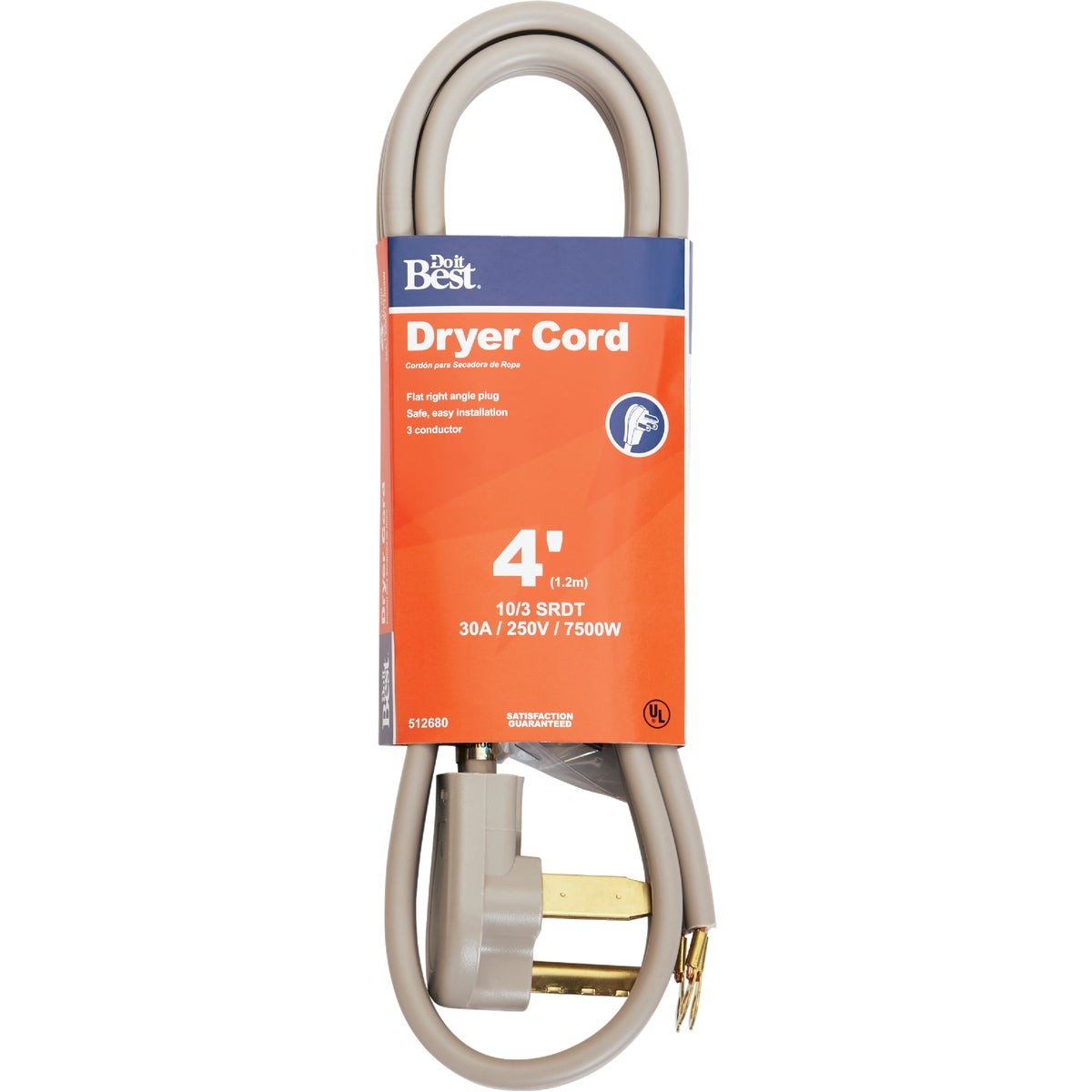 4' 10/3 DRYER CORD - 550974 by Coleman Cable Hwg