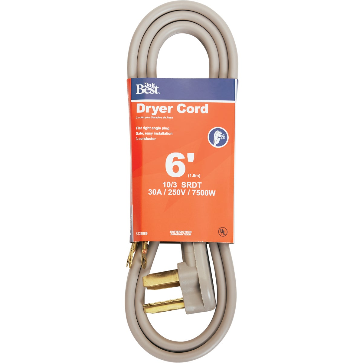 6' 10/3 DRYER CORD - 550976 by Coleman Cable Hwg