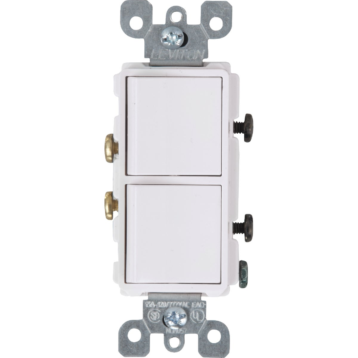 WHT DUPLEX SWITCH - R62-5634-WS by Leviton Mfg Co