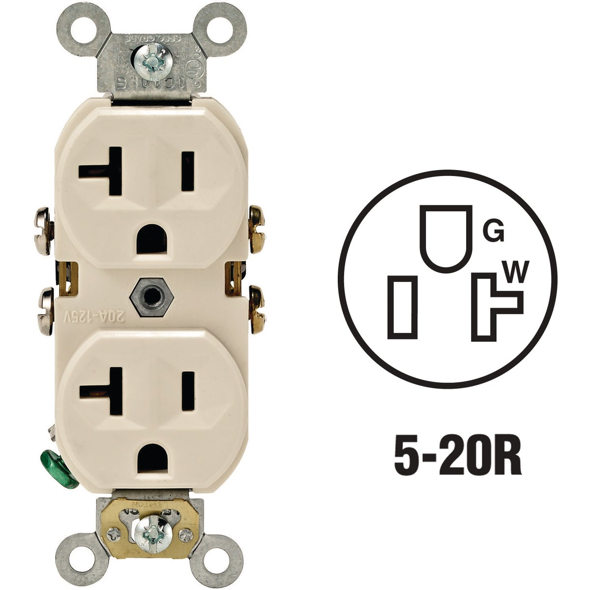 LT ALM 20A OUTLET - S06-0BR20-0TS by Leviton Mfg Co