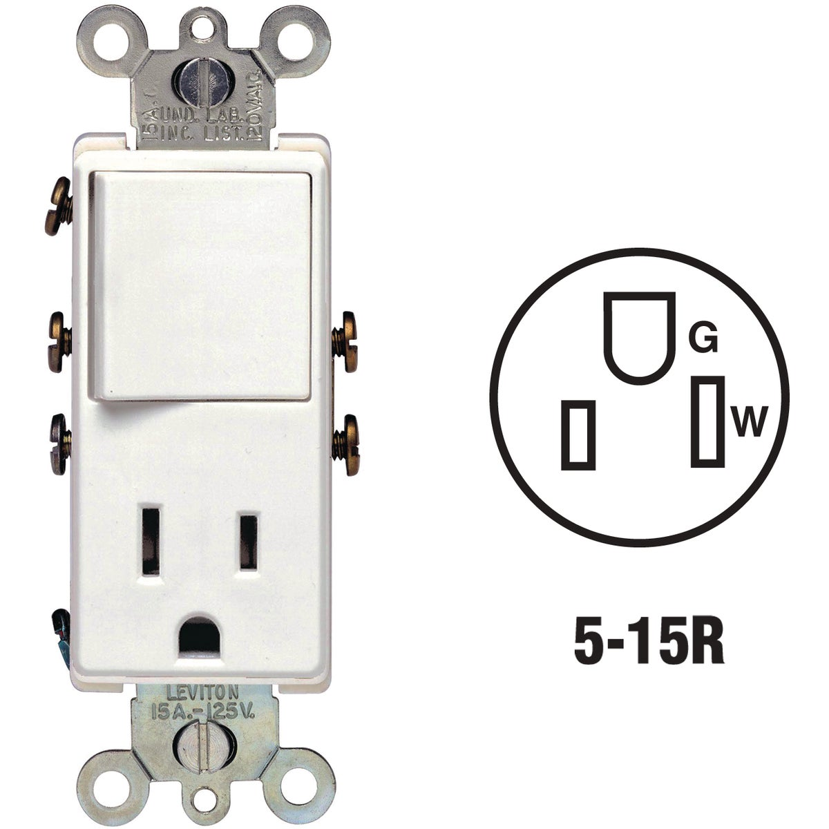 SWITCH/OUTLET - S02-5625-W by Leviton Mfg Co