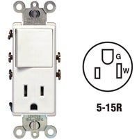 Leviton SWITCH/OUTLET R42-05625W-0WS