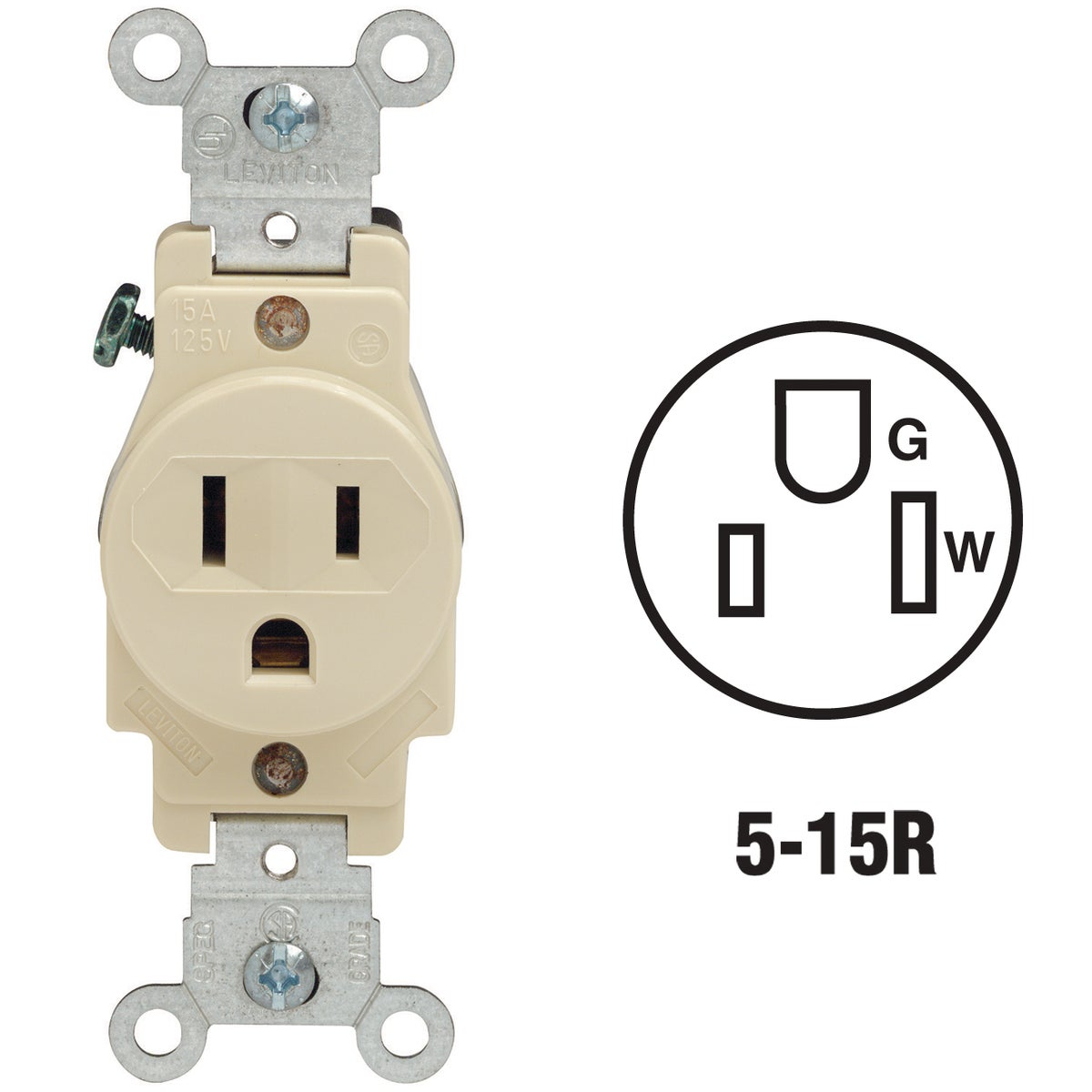 IV SINGLE OUTLET - 5088I by Leviton Mfg Co