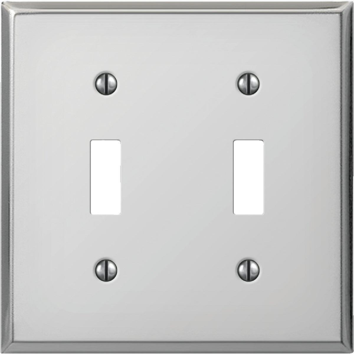 CHR DBL SWTCH WALL PLATE - 8CS102 by Jackson Deerfield Mf