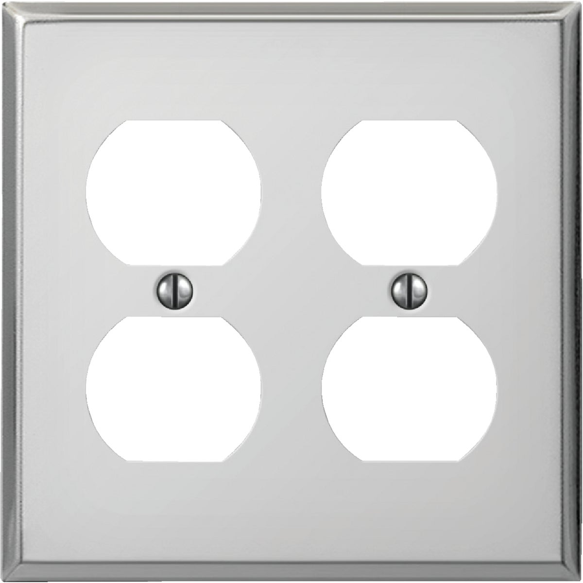 CHR DBL OUTLT WALL PLATE - 8CS118 by Jackson Deerfield Mf
