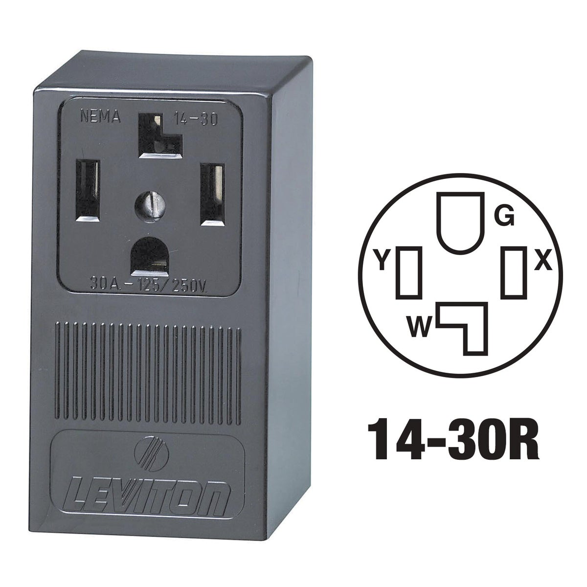 SURFACE DRYER OUTLET - 55054 by Leviton Mfg Co