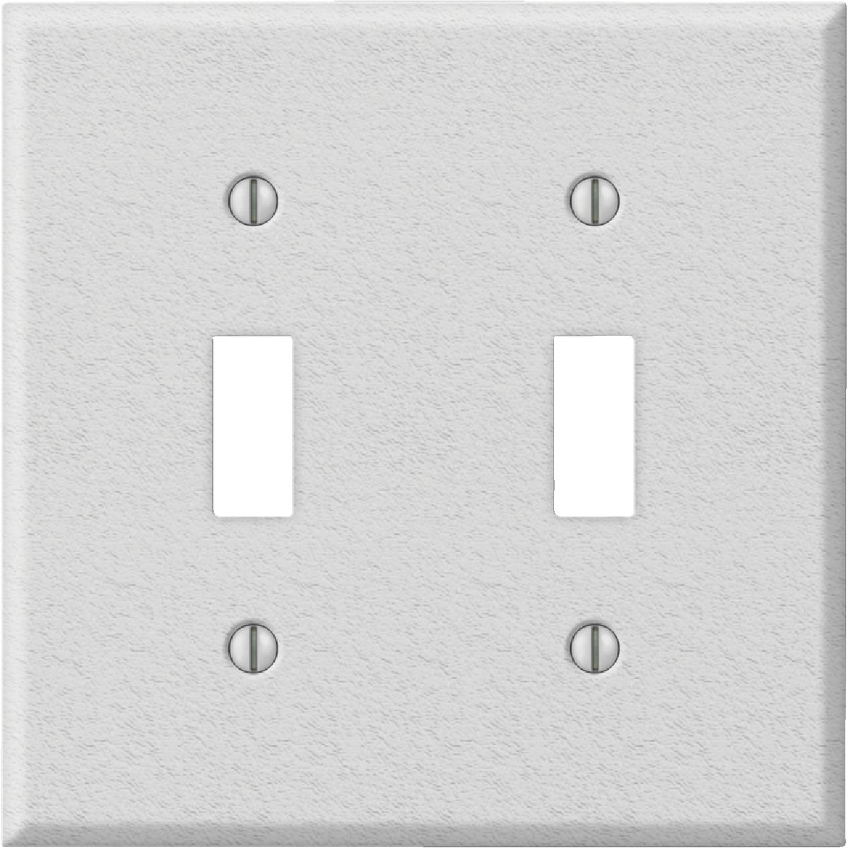 WHT DBL SWTCH WALL PLATE - 8WK102 by Jackson Deerfield Mf